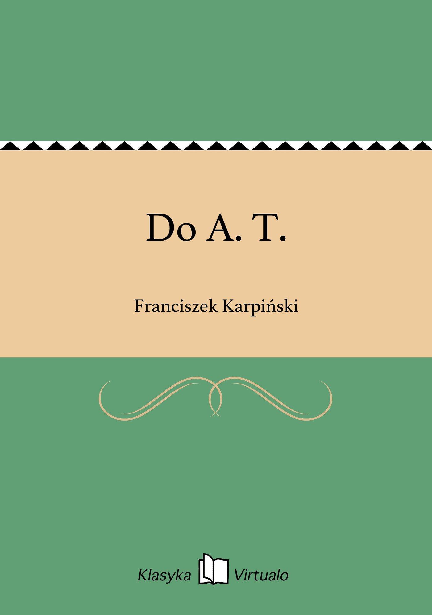 Do A. T. - Ebook (Książka EPUB) do pobrania w formacie EPUB