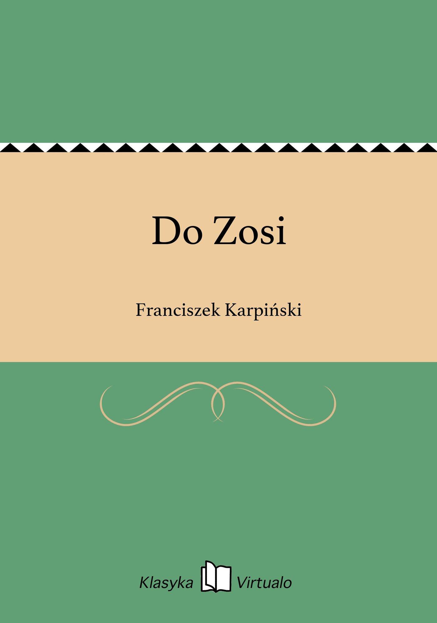 Do Zosi - Ebook (Książka EPUB) do pobrania w formacie EPUB