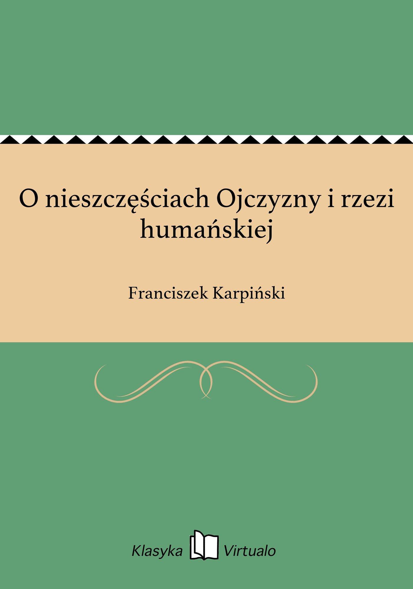 O nieszczęściach Ojczyzny i rzezi humańskiej - Ebook (Książka EPUB) do pobrania w formacie EPUB