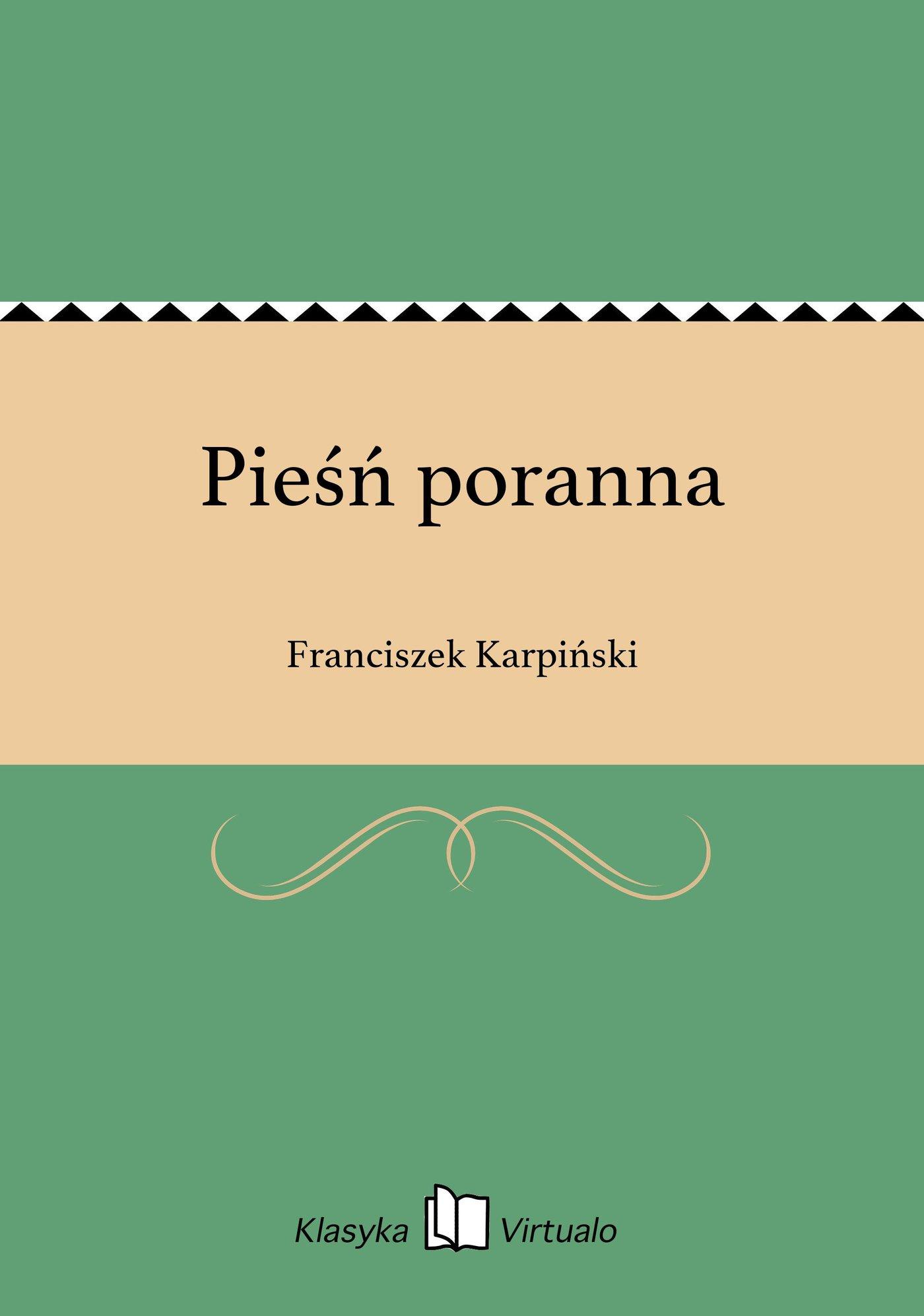 Pieśń poranna - Ebook (Książka EPUB) do pobrania w formacie EPUB