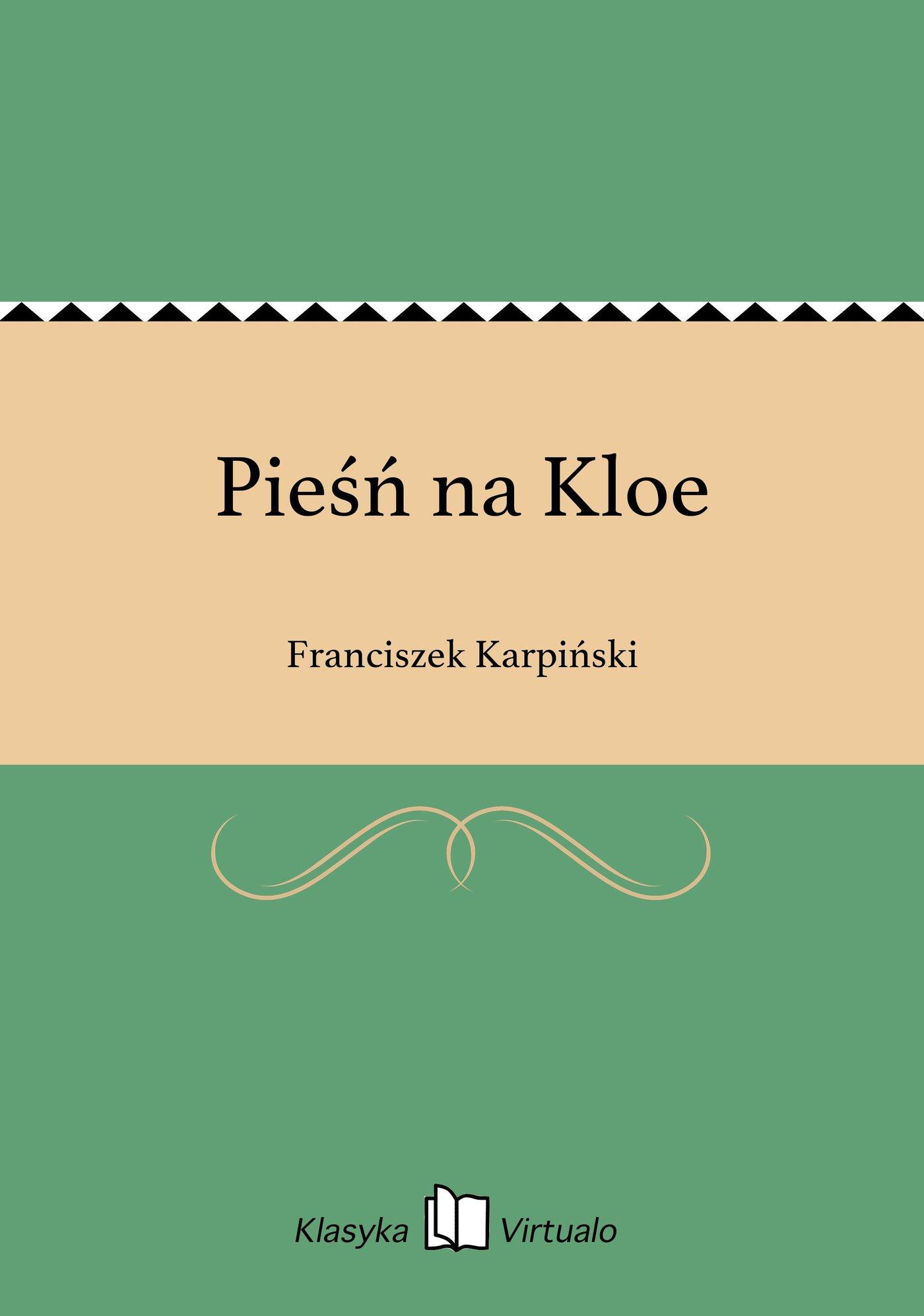Pieśń na Kloe - Ebook (Książka EPUB) do pobrania w formacie EPUB