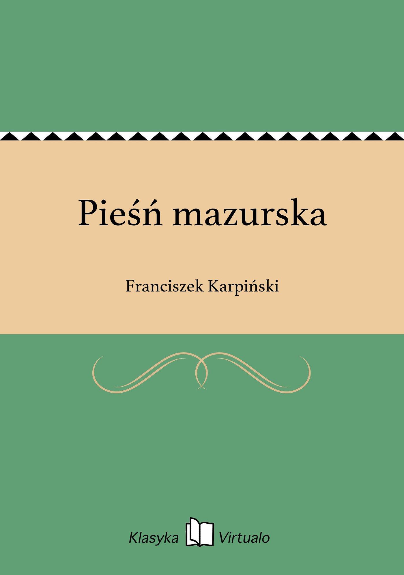 Pieśń mazurska - Ebook (Książka EPUB) do pobrania w formacie EPUB
