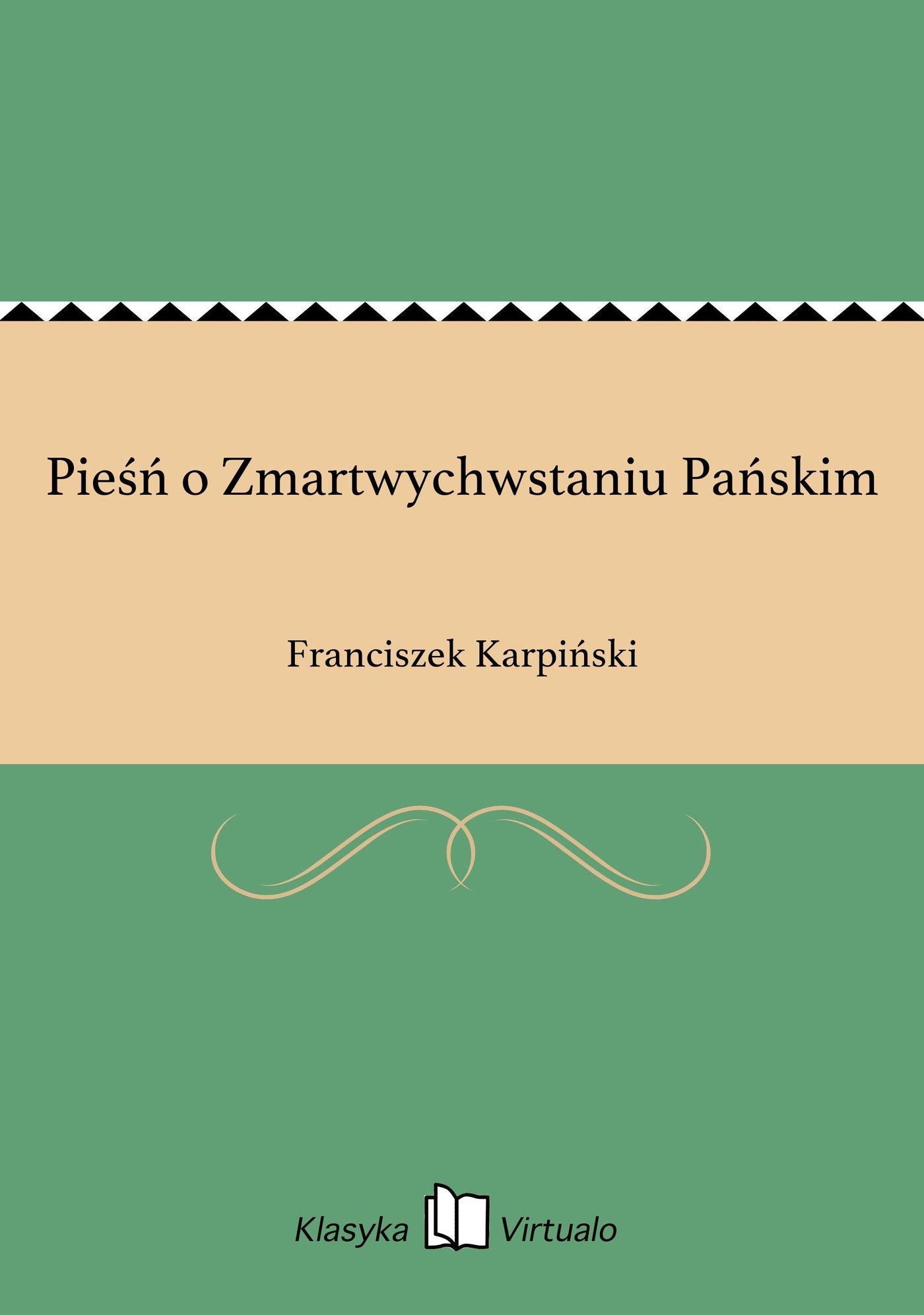 Pieśń o Zmartwychwstaniu Pańskim - Ebook (Książka EPUB) do pobrania w formacie EPUB