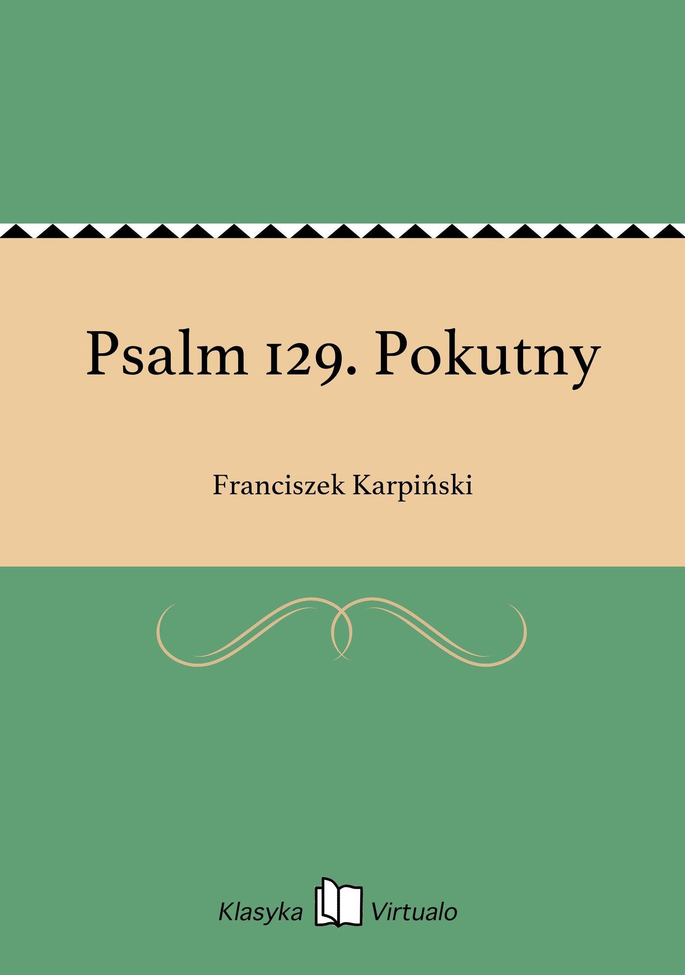 Psalm 129. Pokutny - Ebook (Książka EPUB) do pobrania w formacie EPUB