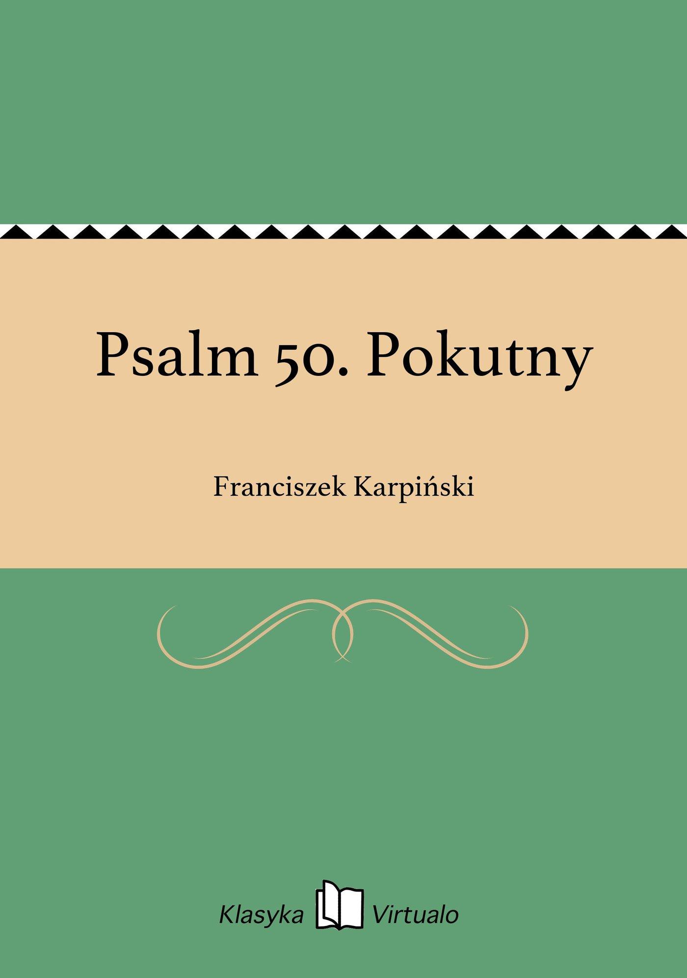 Psalm 50. Pokutny - Ebook (Książka EPUB) do pobrania w formacie EPUB
