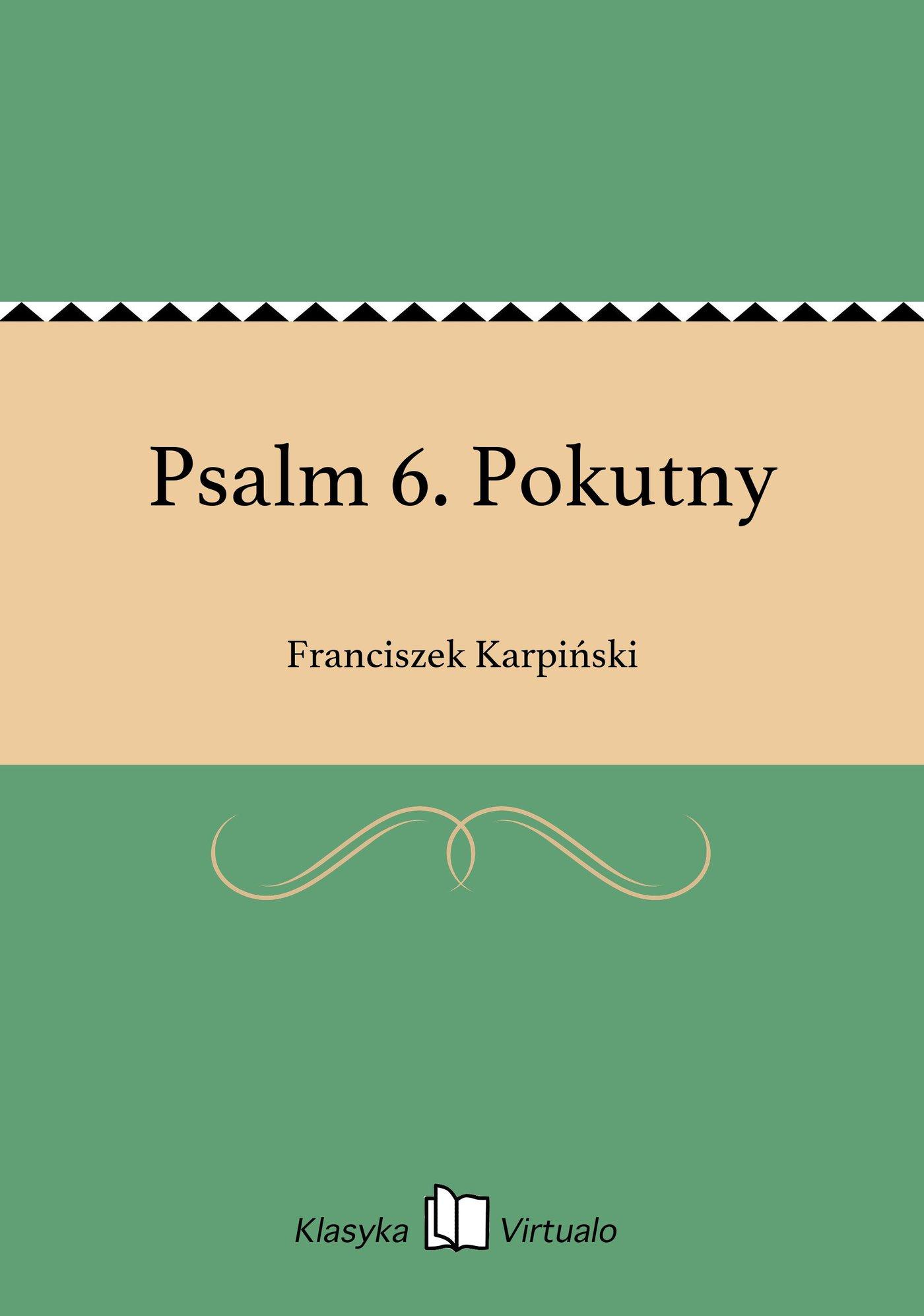 Psalm 6. Pokutny - Ebook (Książka EPUB) do pobrania w formacie EPUB