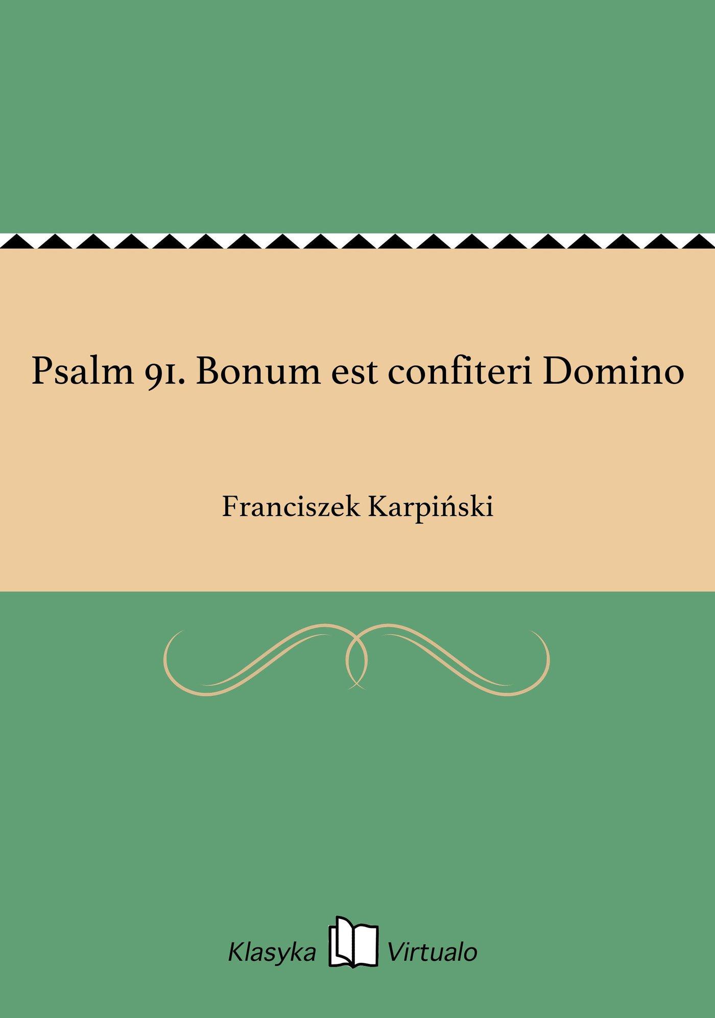 Psalm 91. Bonum est confiteri Domino - Ebook (Książka EPUB) do pobrania w formacie EPUB