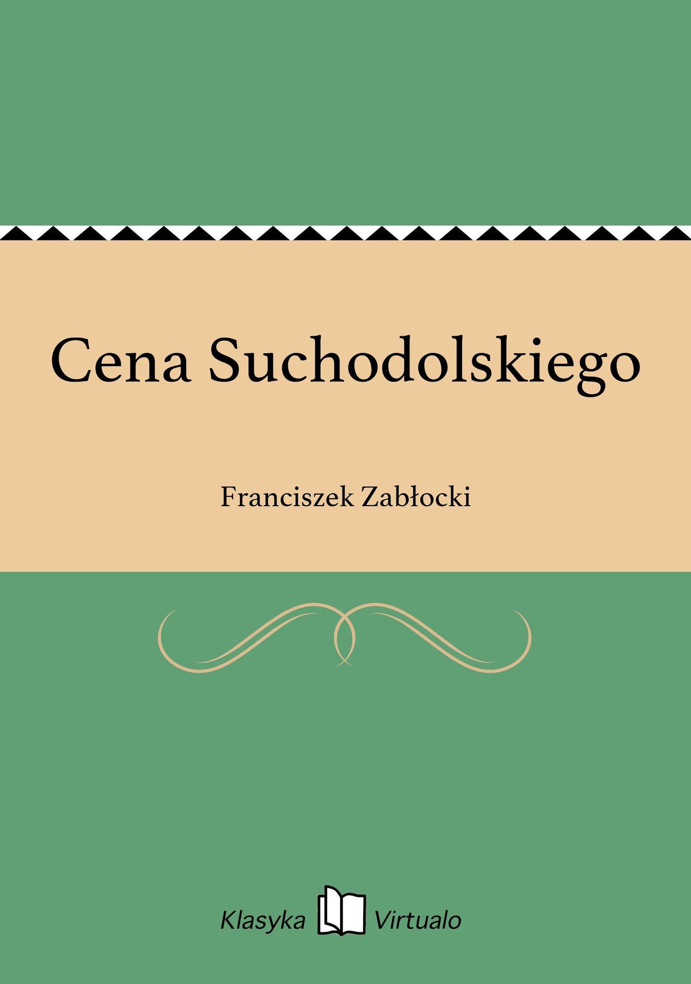 Cena Suchodolskiego - Ebook (Książka EPUB) do pobrania w formacie EPUB