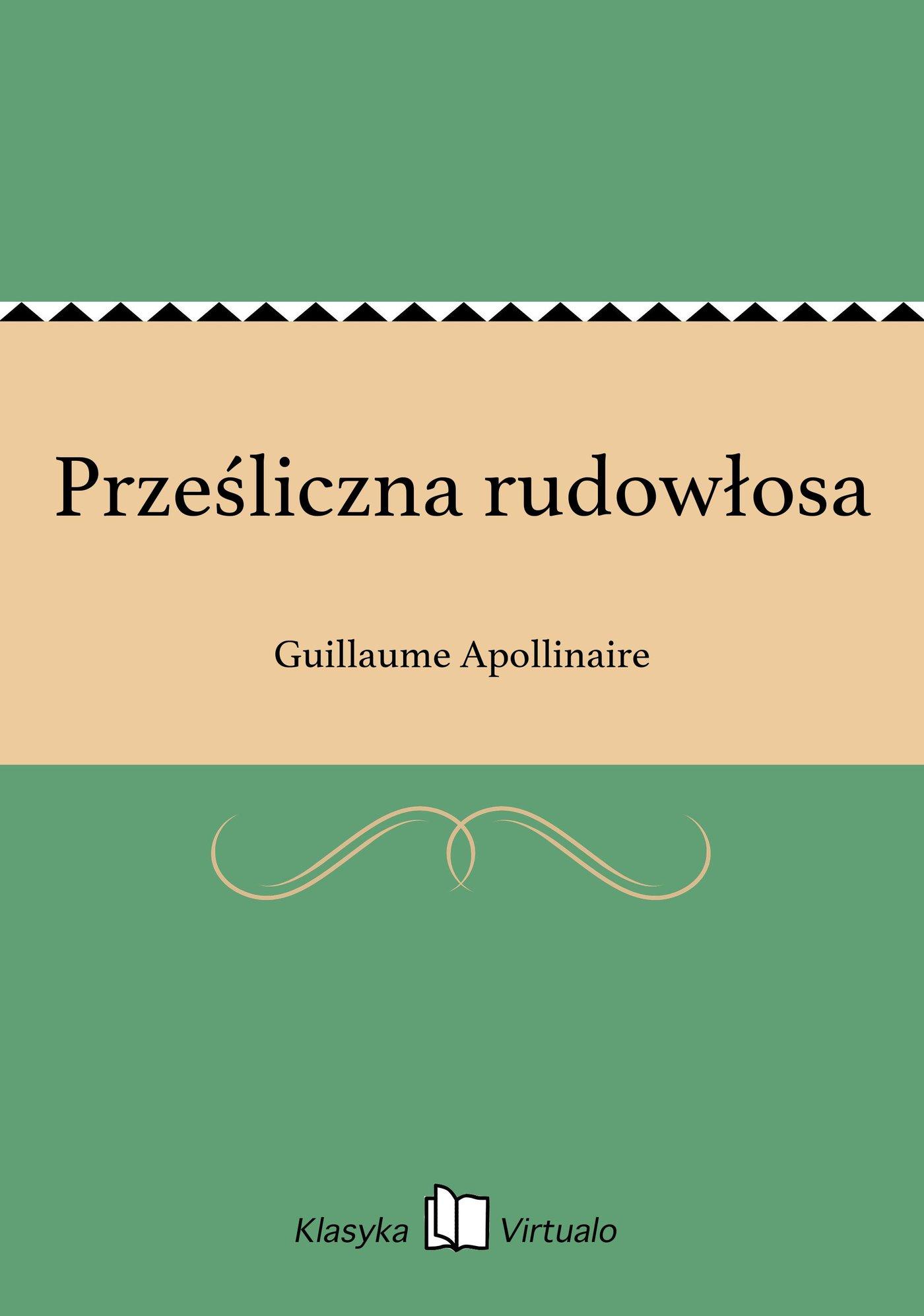 Prześliczna rudowłosa - Ebook (Książka EPUB) do pobrania w formacie EPUB