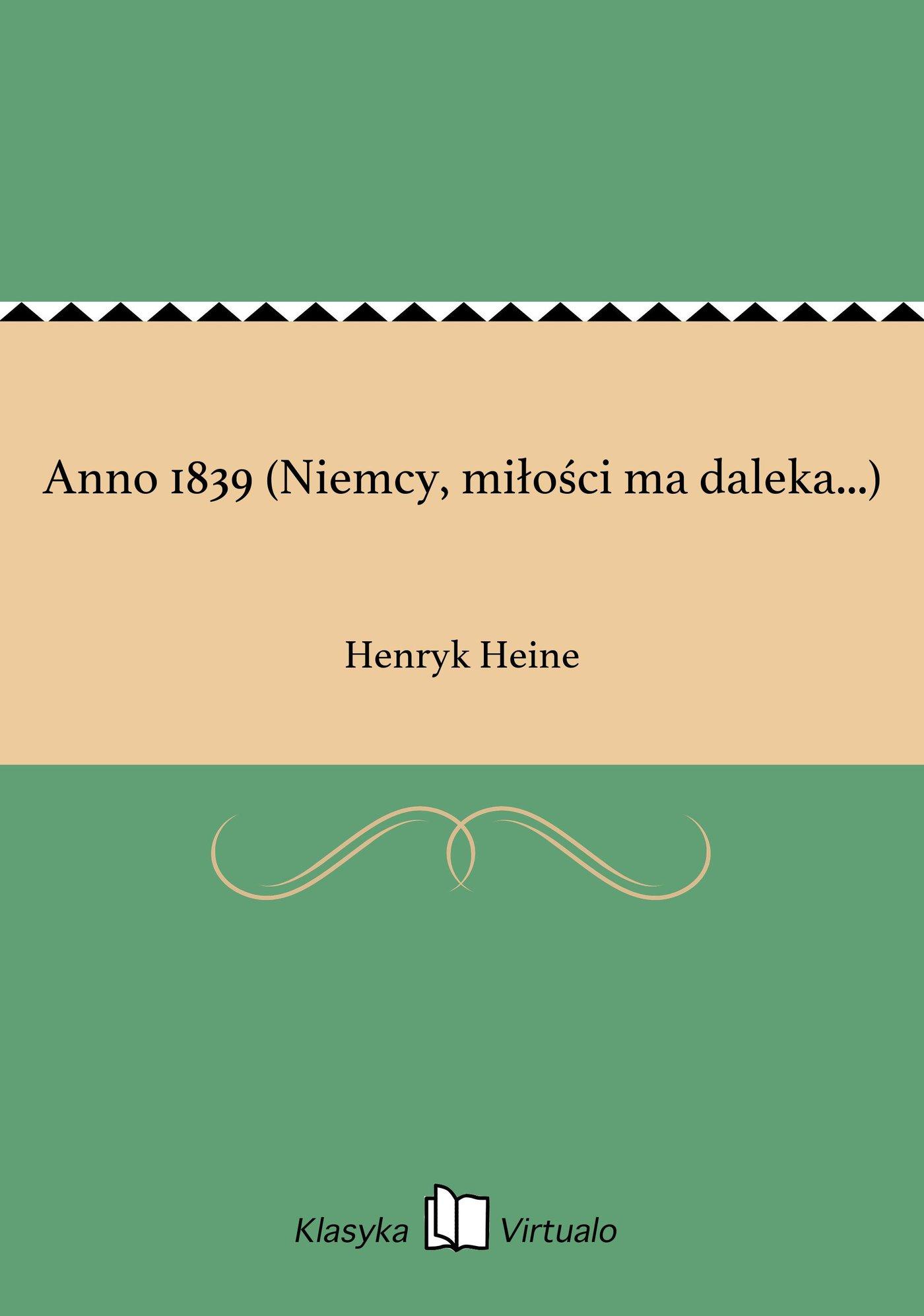 Anno 1839 (Niemcy, miłości ma daleka...) - Ebook (Książka EPUB) do pobrania w formacie EPUB