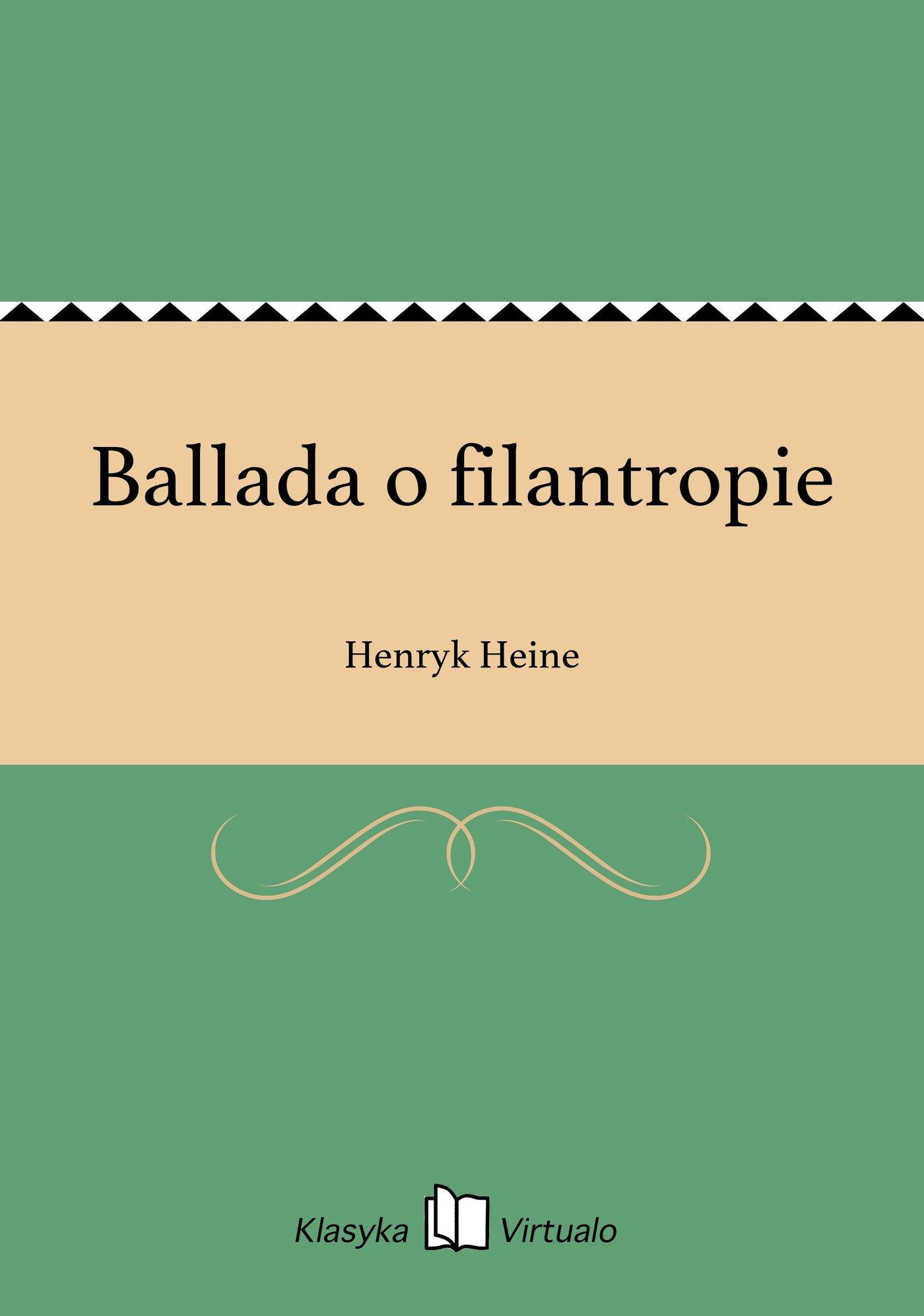 Ballada o filantropie - Ebook (Książka EPUB) do pobrania w formacie EPUB