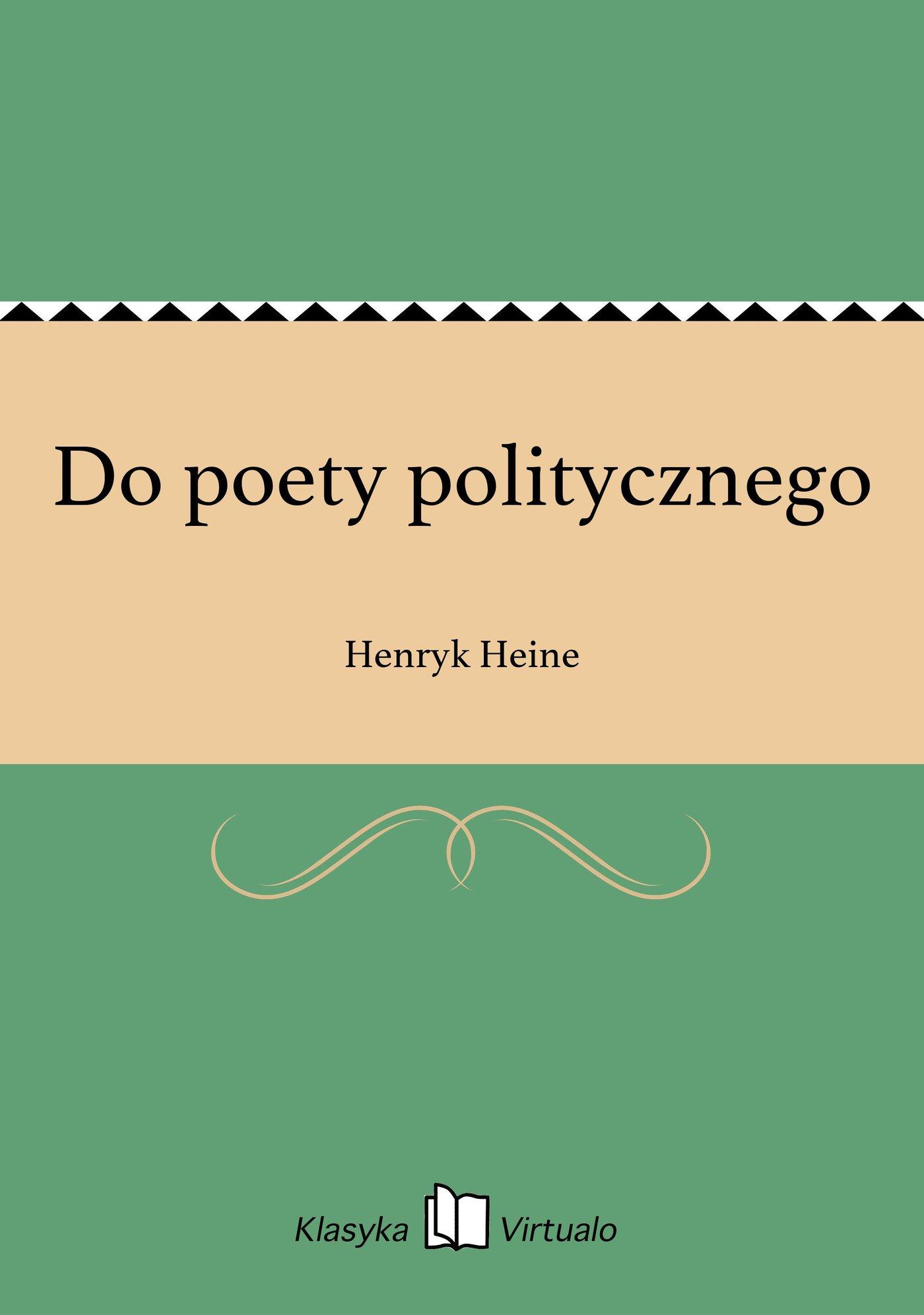 Do poety politycznego - Ebook (Książka EPUB) do pobrania w formacie EPUB