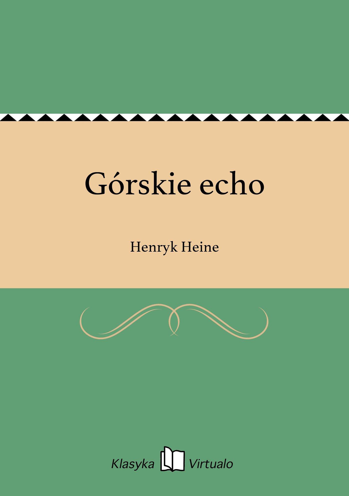 Górskie echo - Ebook (Książka EPUB) do pobrania w formacie EPUB