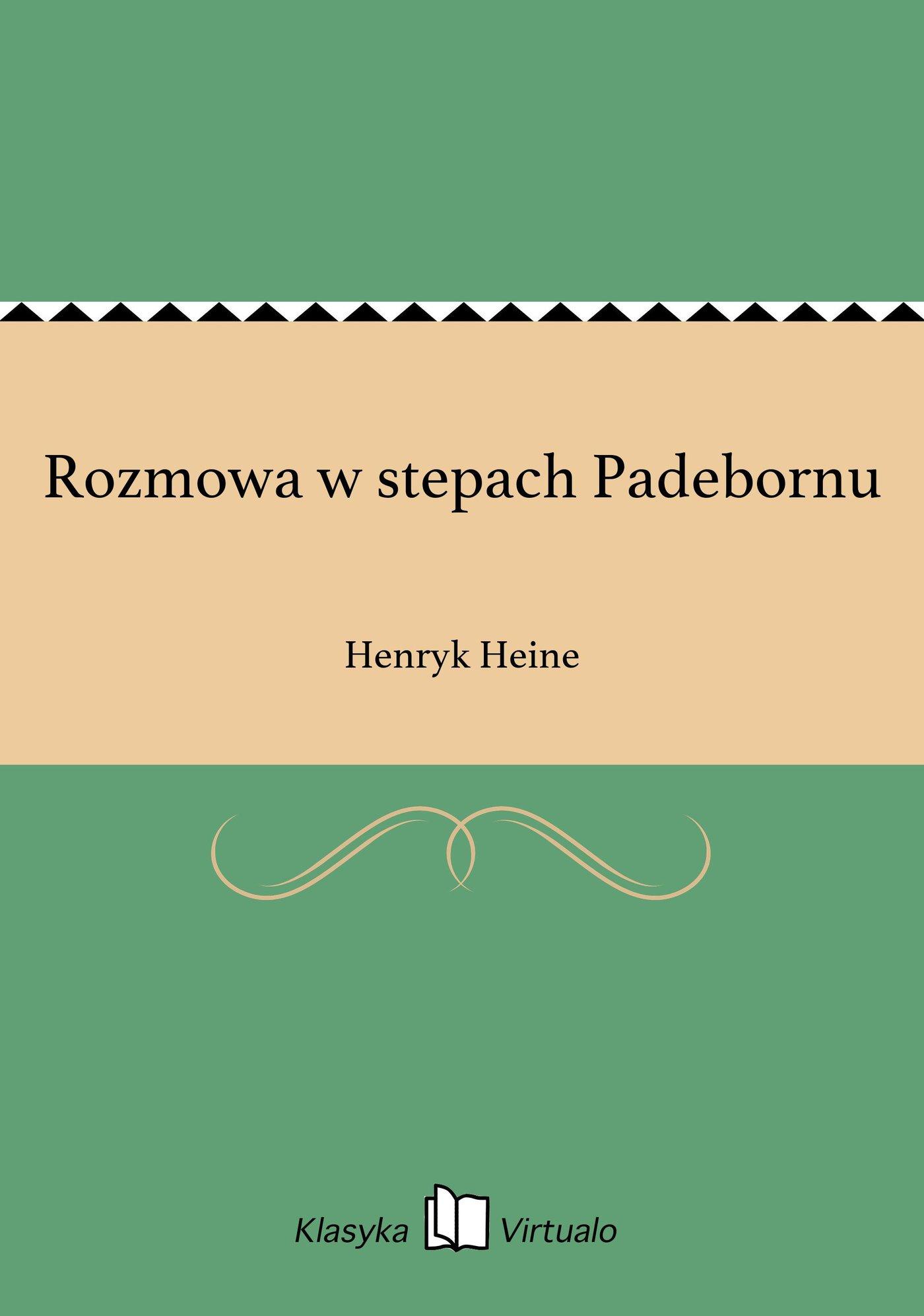 Rozmowa w stepach Padebornu - Ebook (Książka EPUB) do pobrania w formacie EPUB