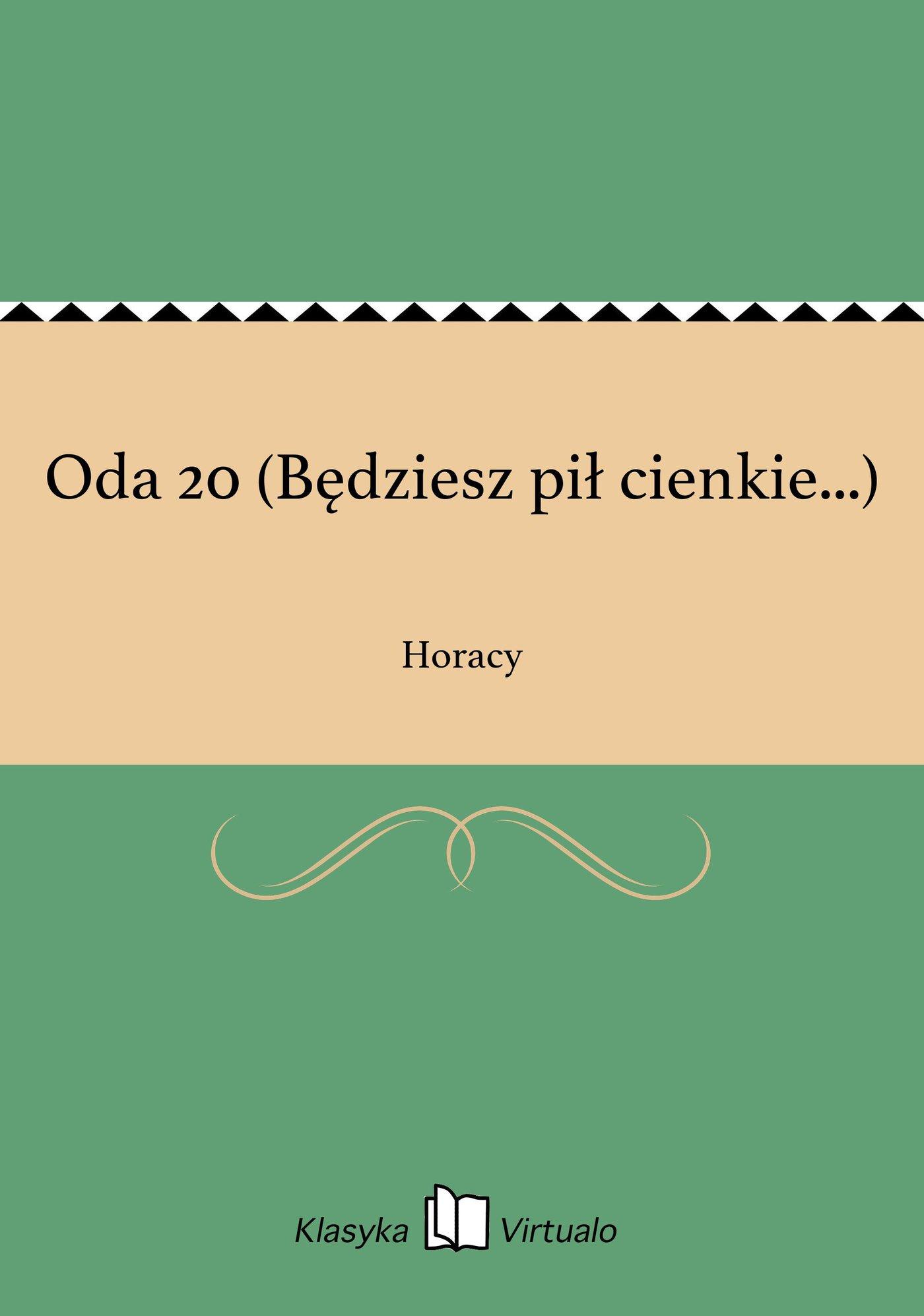 Oda 20 (Będziesz pił cienkie...) - Ebook (Książka EPUB) do pobrania w formacie EPUB