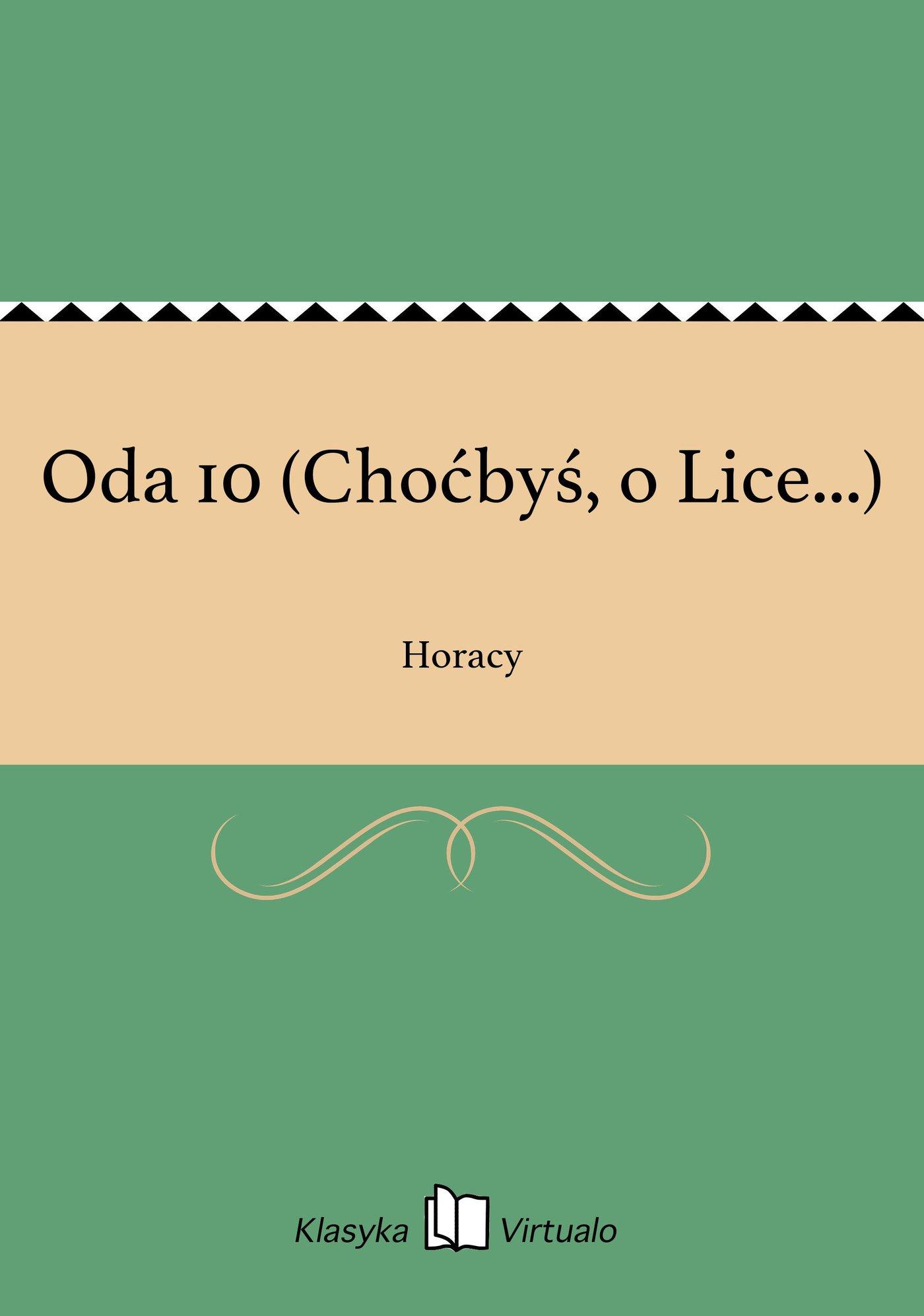 Oda 10 (Choćbyś, o Lice...) - Ebook (Książka EPUB) do pobrania w formacie EPUB