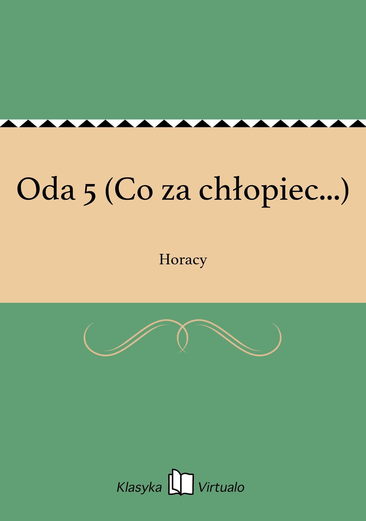Oda 5 (Co za chłopiec...) - Ebook (Książka EPUB) do pobrania w formacie EPUB