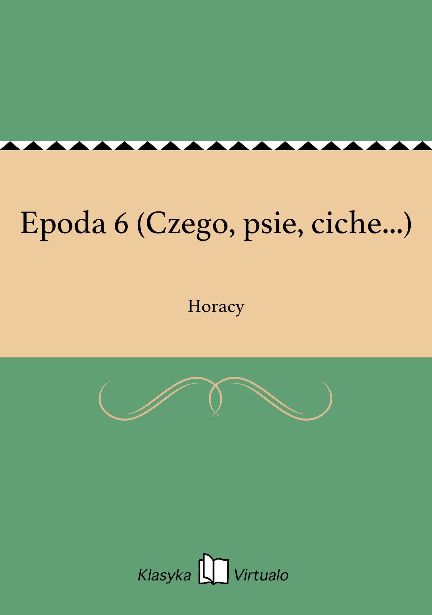 Epoda 6 (Czego, psie, ciche...) - Ebook (Książka EPUB) do pobrania w formacie EPUB