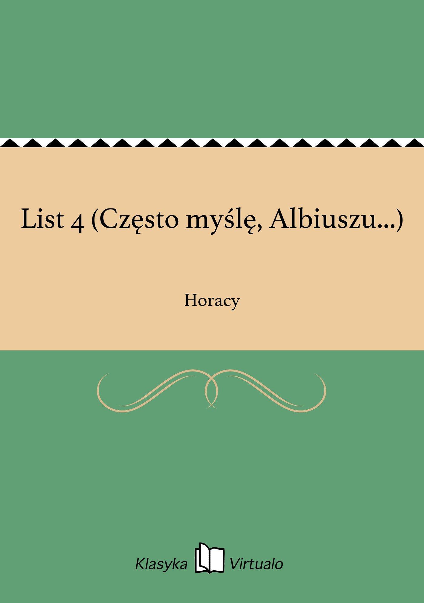 List 4 (Często myślę, Albiuszu...) - Ebook (Książka EPUB) do pobrania w formacie EPUB