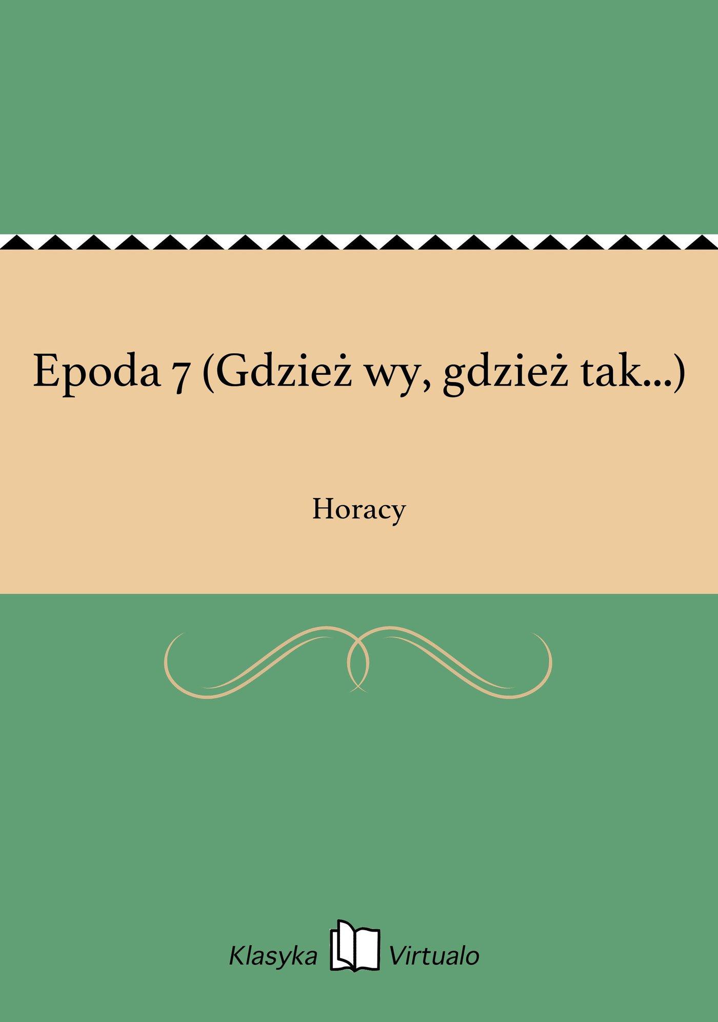 Epoda 7 (Gdzież wy, gdzież tak...) - Ebook (Książka EPUB) do pobrania w formacie EPUB