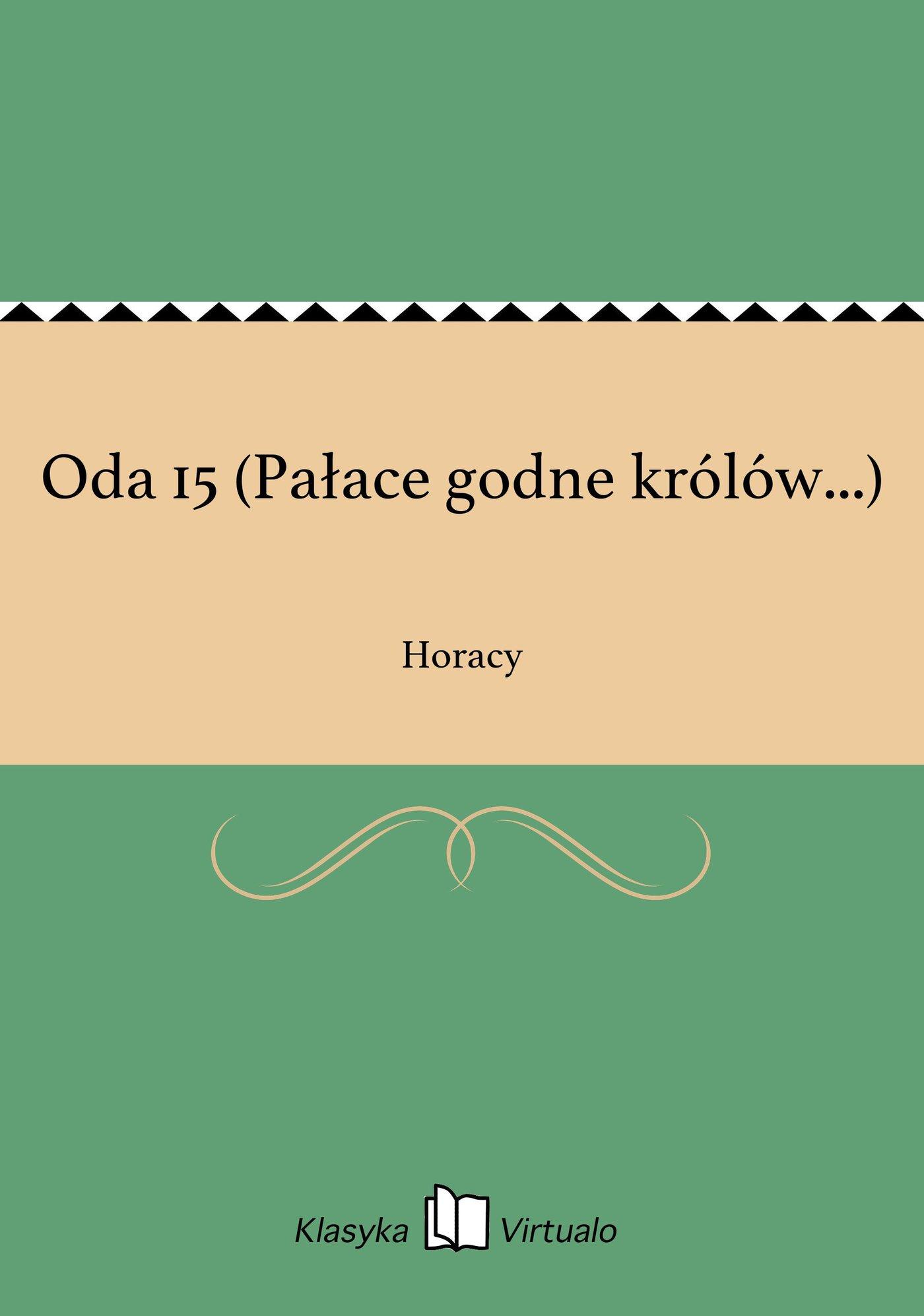 Oda 15 (Pałace godne królów...) - Ebook (Książka EPUB) do pobrania w formacie EPUB
