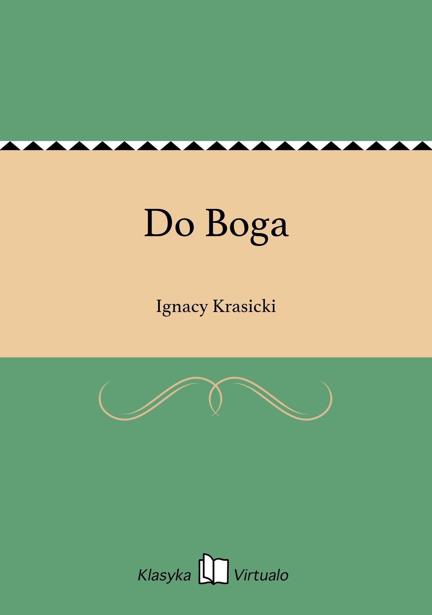 Do Boga - Ebook (Książka EPUB) do pobrania w formacie EPUB
