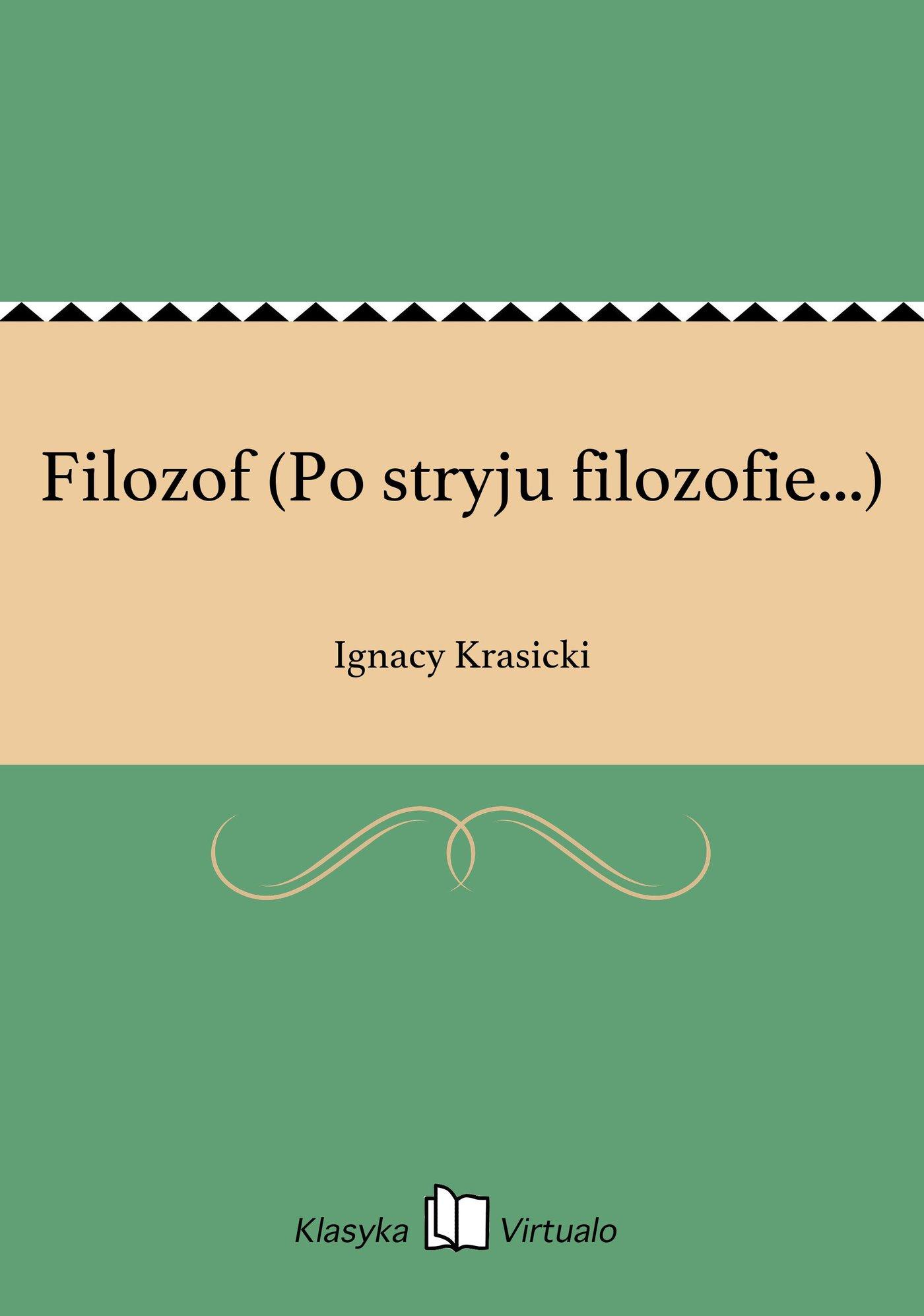 Filozof (Po stryju filozofie...) - Ebook (Książka EPUB) do pobrania w formacie EPUB