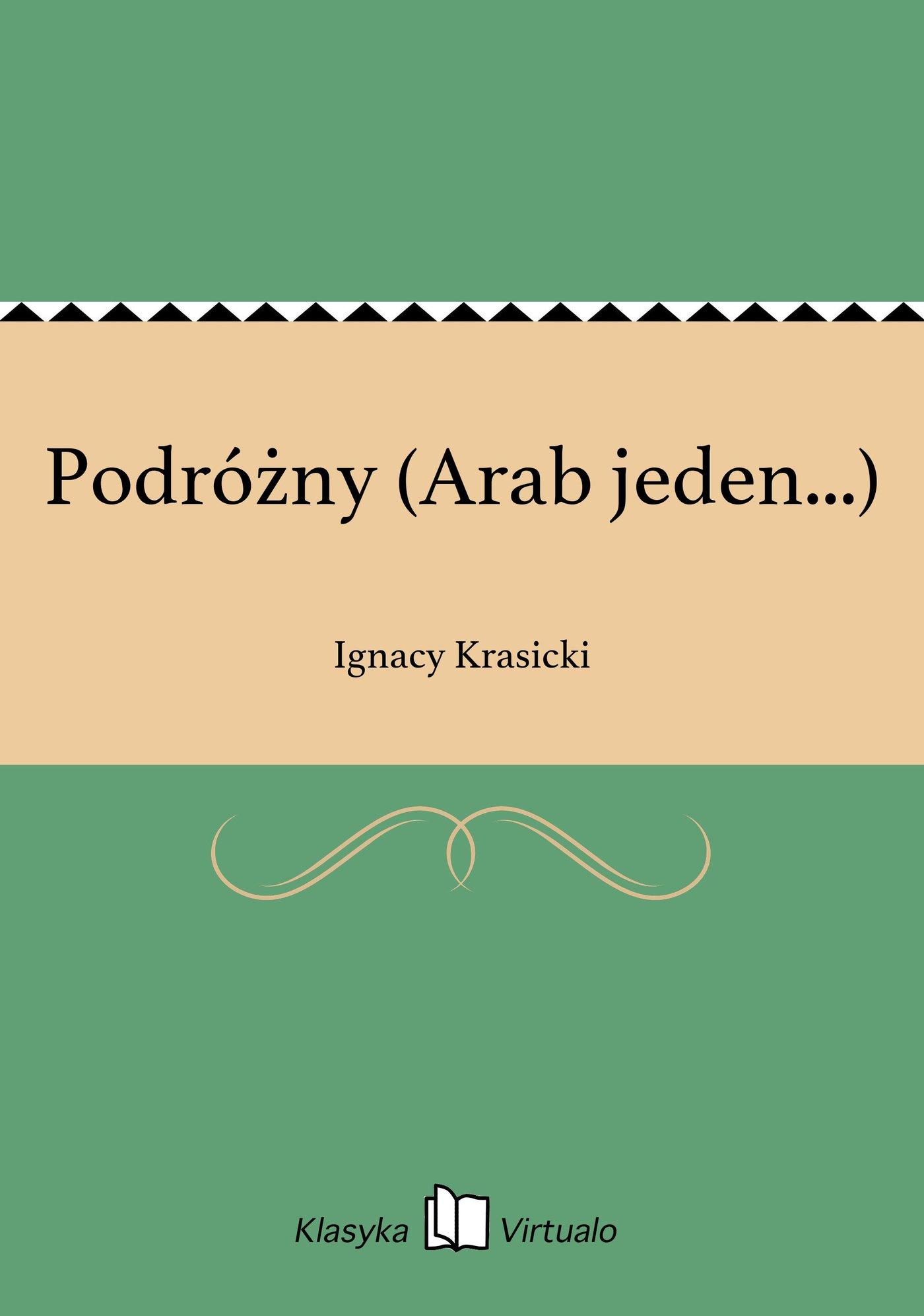 Podróżny (Arab jeden...) - Ebook (Książka EPUB) do pobrania w formacie EPUB