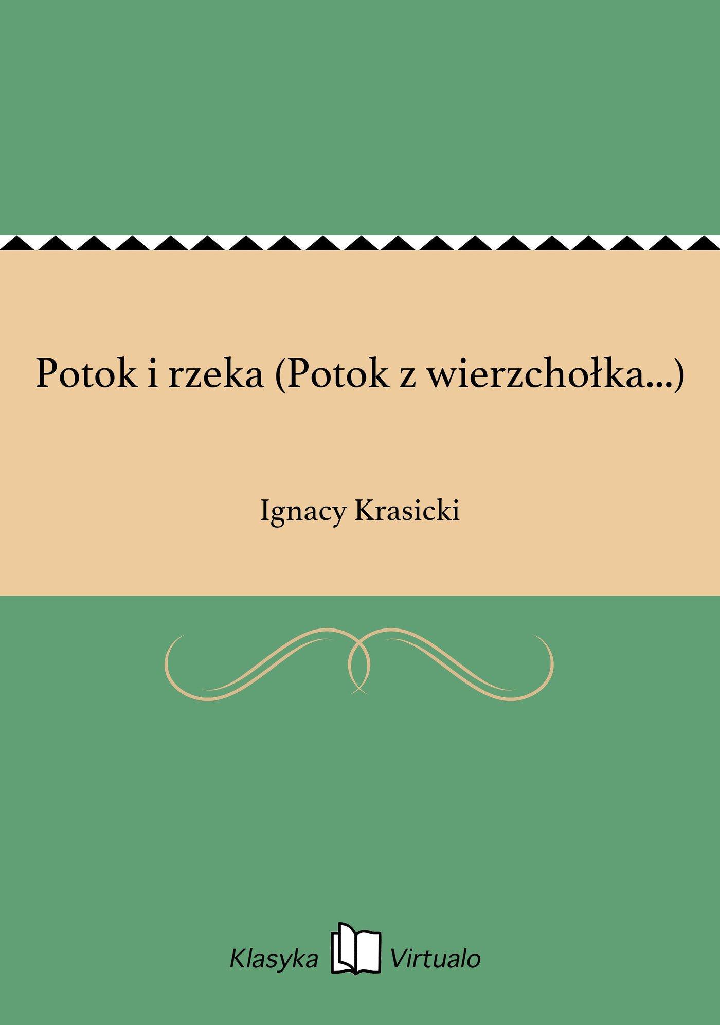 Potok i rzeka (Potok z wierzchołka...) - Ebook (Książka EPUB) do pobrania w formacie EPUB