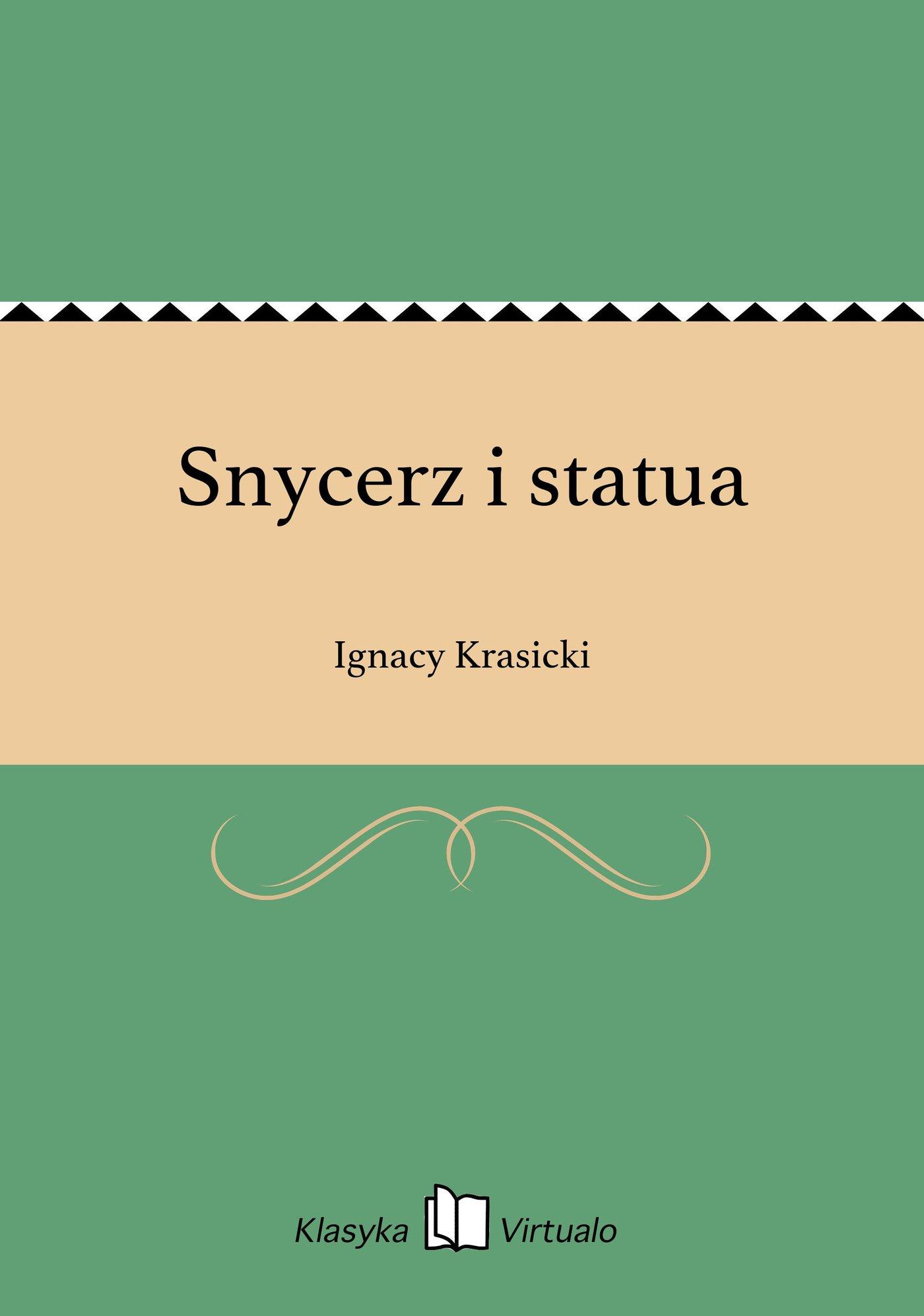 Snycerz i statua - Ebook (Książka EPUB) do pobrania w formacie EPUB