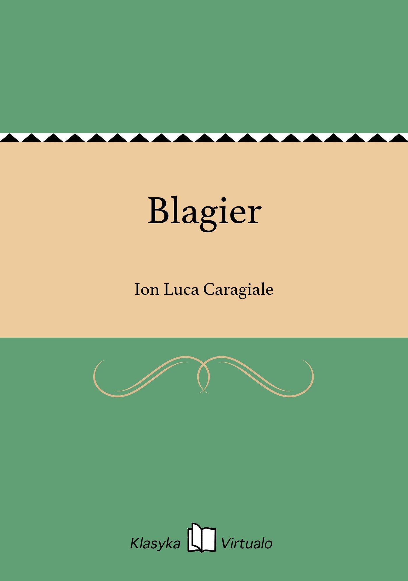 Blagier - Ebook (Książka EPUB) do pobrania w formacie EPUB