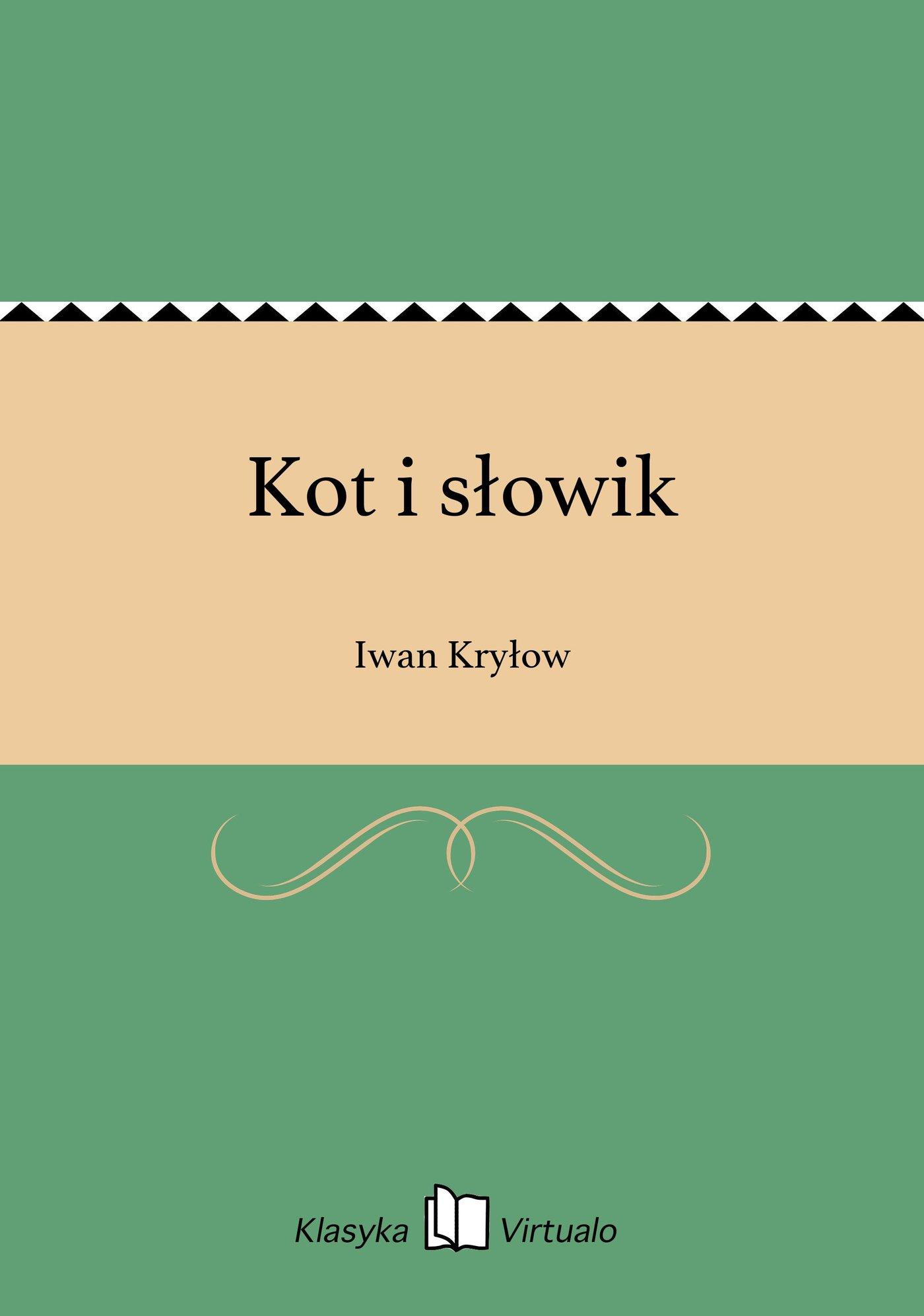 Kot i słowik - Ebook (Książka EPUB) do pobrania w formacie EPUB