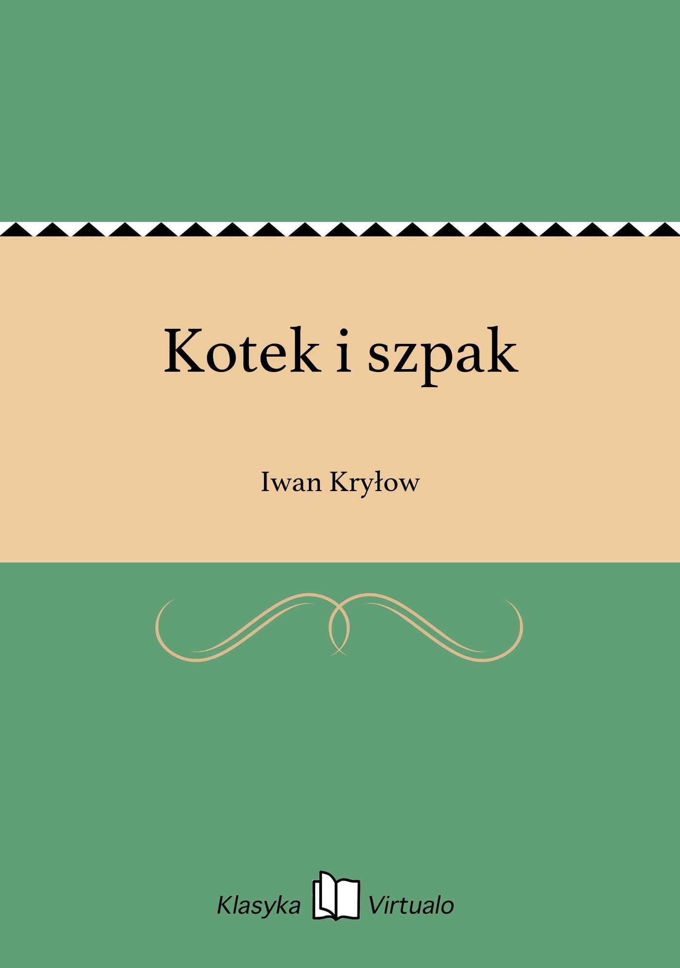 Kotek i szpak - Ebook (Książka EPUB) do pobrania w formacie EPUB