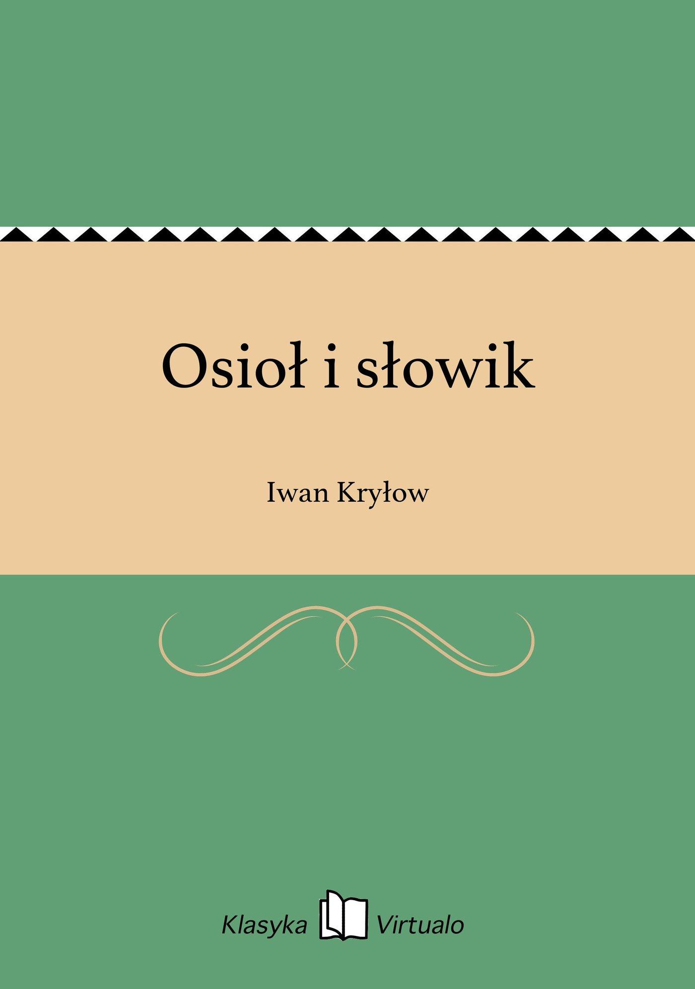 Osioł i słowik - Ebook (Książka EPUB) do pobrania w formacie EPUB