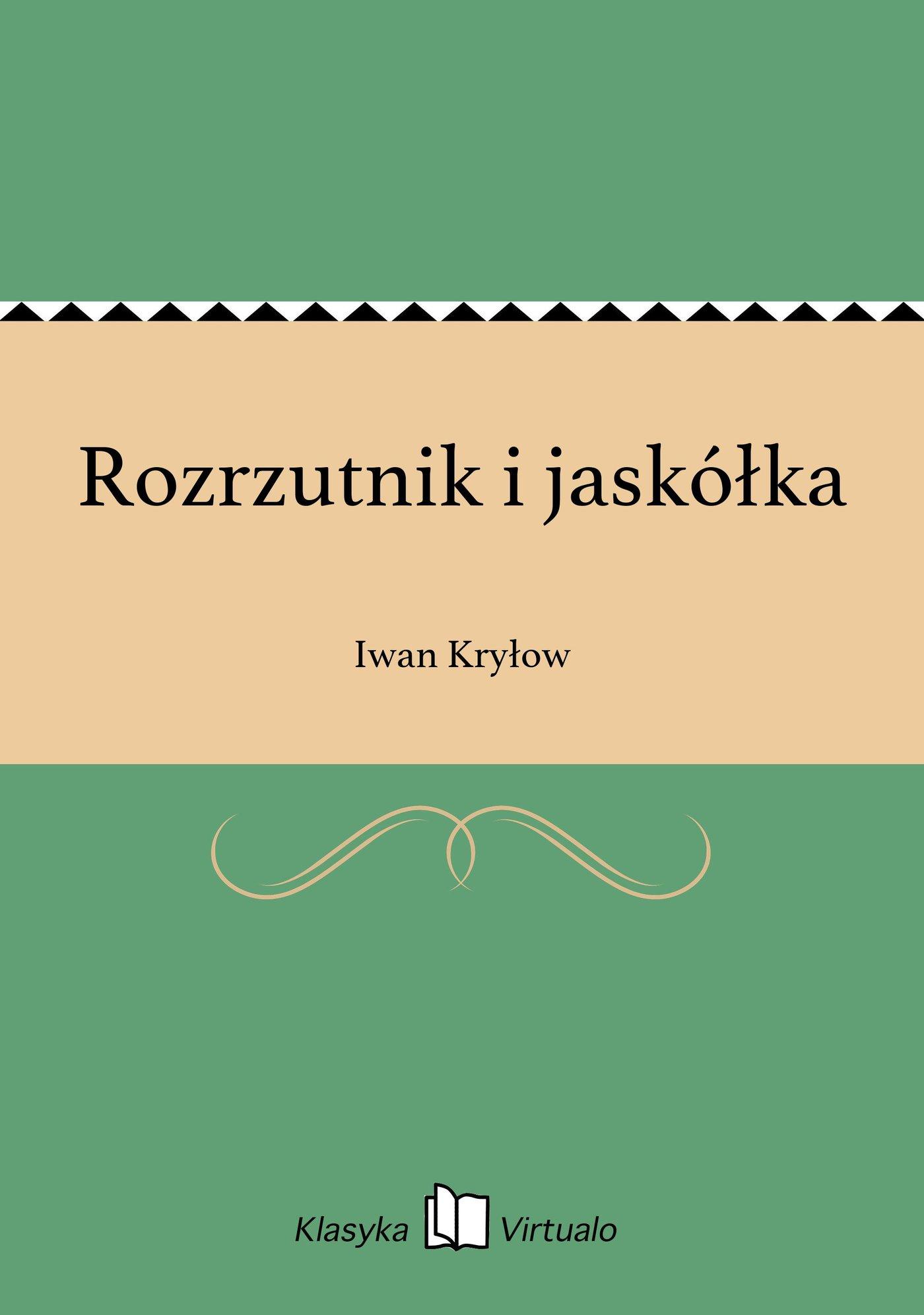 Rozrzutnik i jaskółka - Ebook (Książka EPUB) do pobrania w formacie EPUB