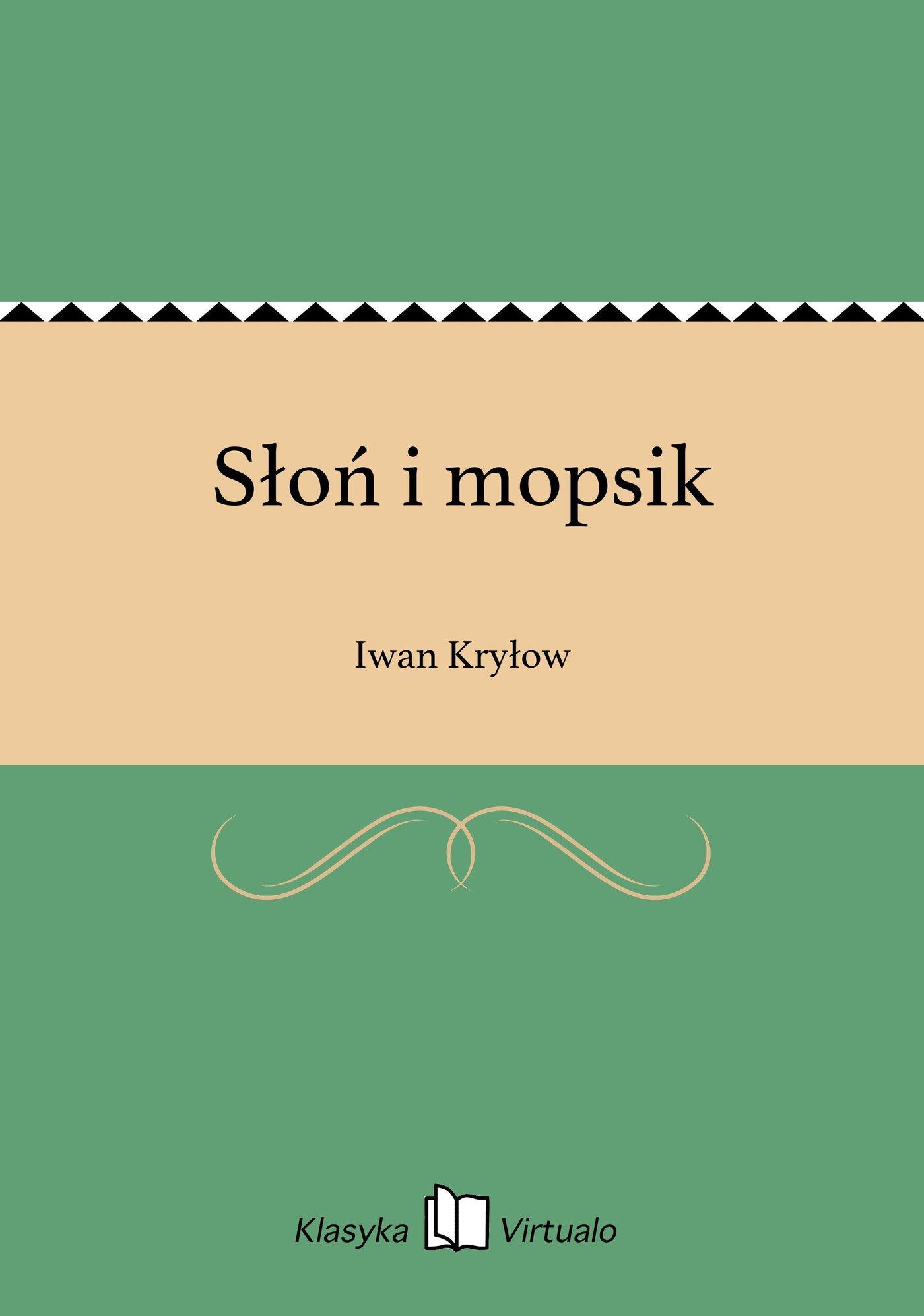 Słoń i mopsik - Ebook (Książka EPUB) do pobrania w formacie EPUB