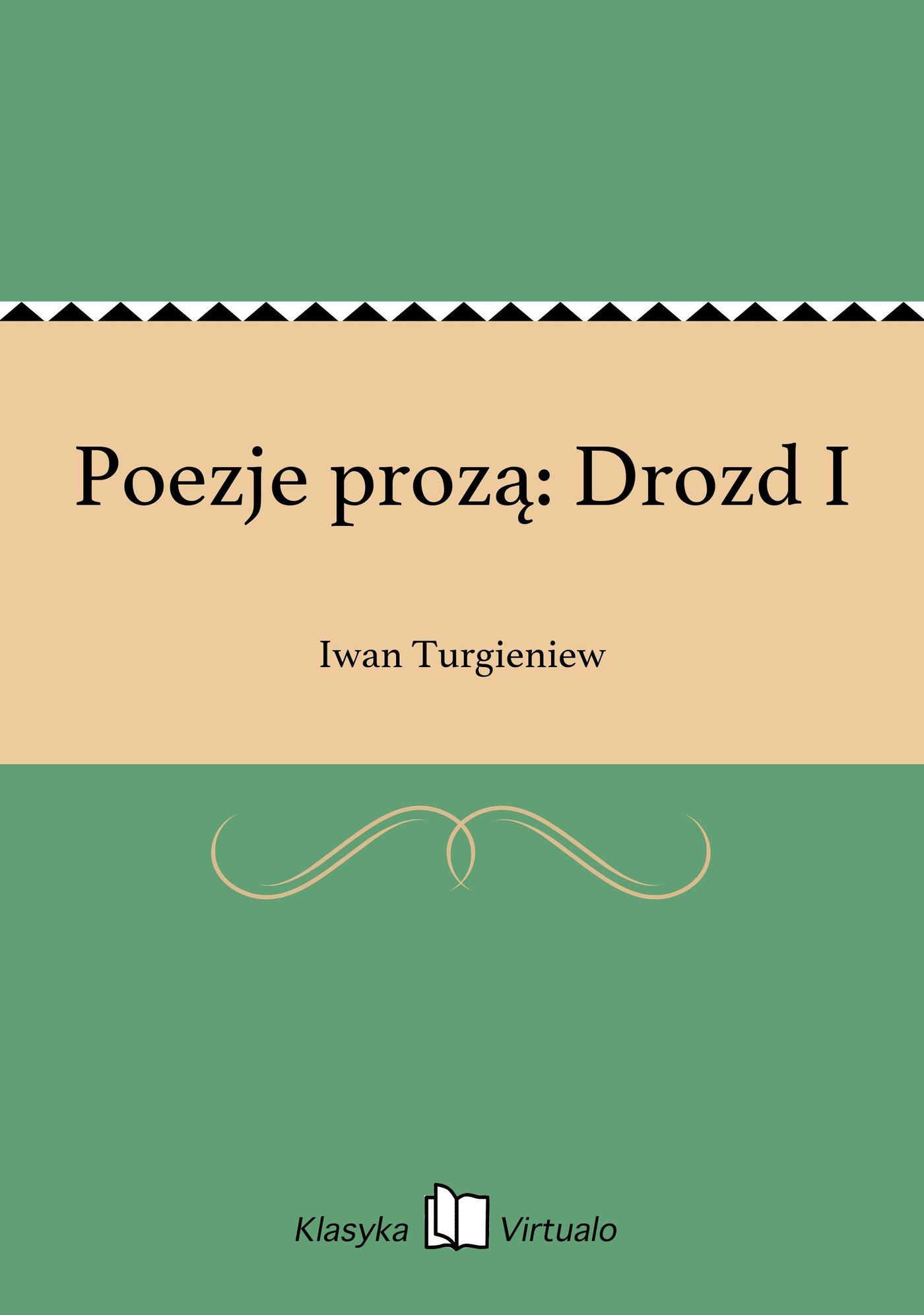 Poezje prozą: Drozd I - Ebook (Książka EPUB) do pobrania w formacie EPUB