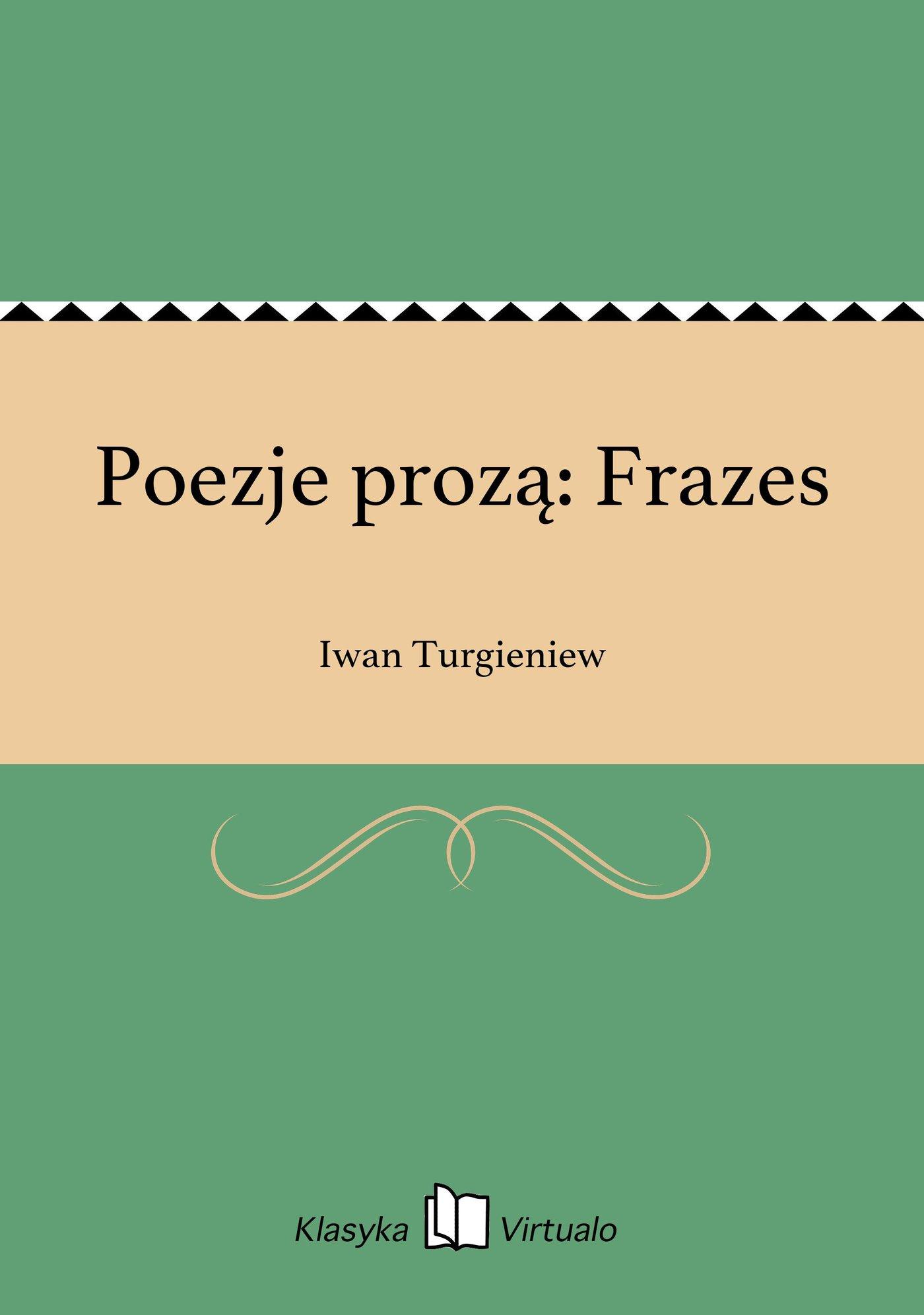 Poezje prozą: Frazes - Ebook (Książka EPUB) do pobrania w formacie EPUB