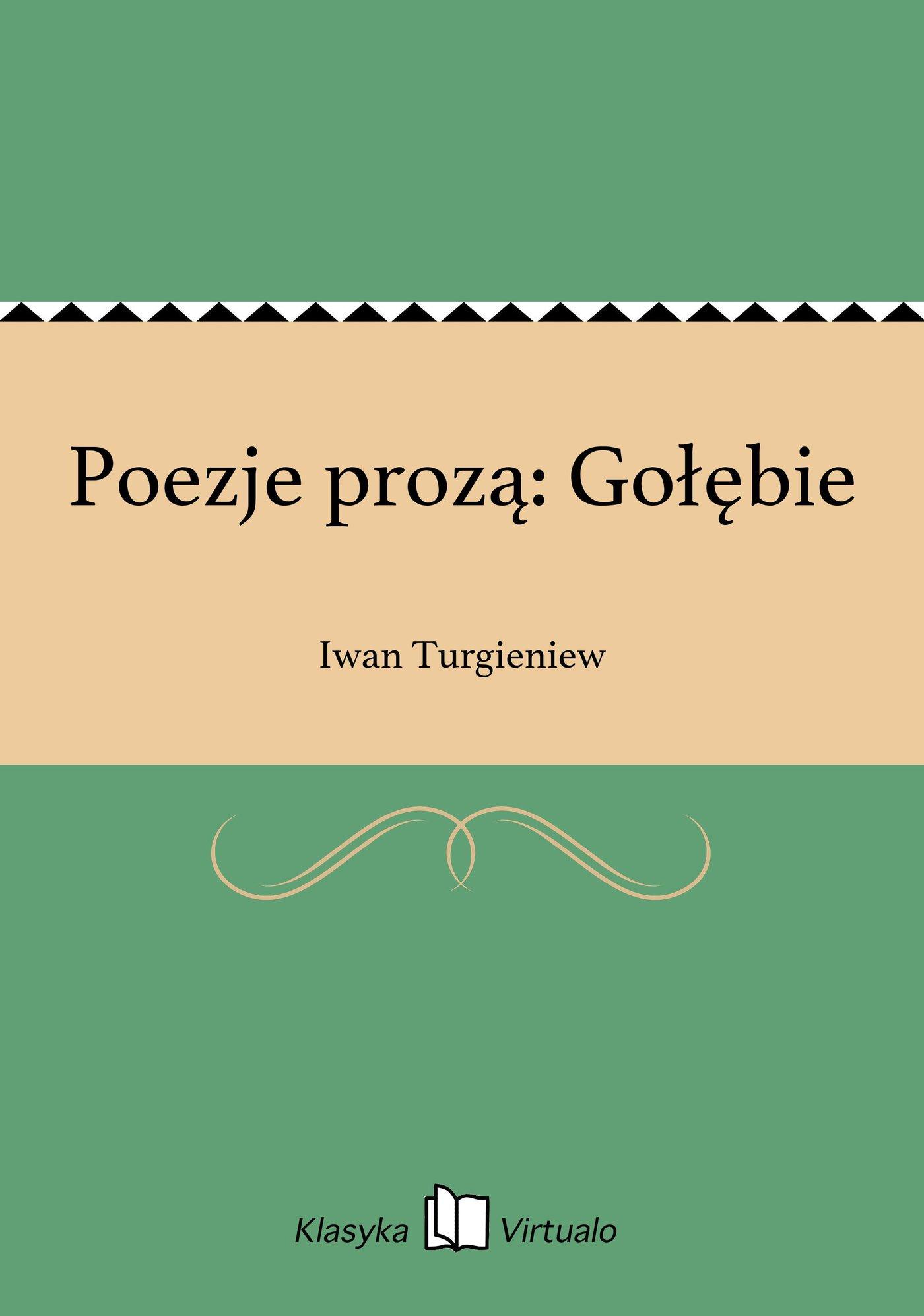 Poezje prozą: Gołębie - Ebook (Książka EPUB) do pobrania w formacie EPUB