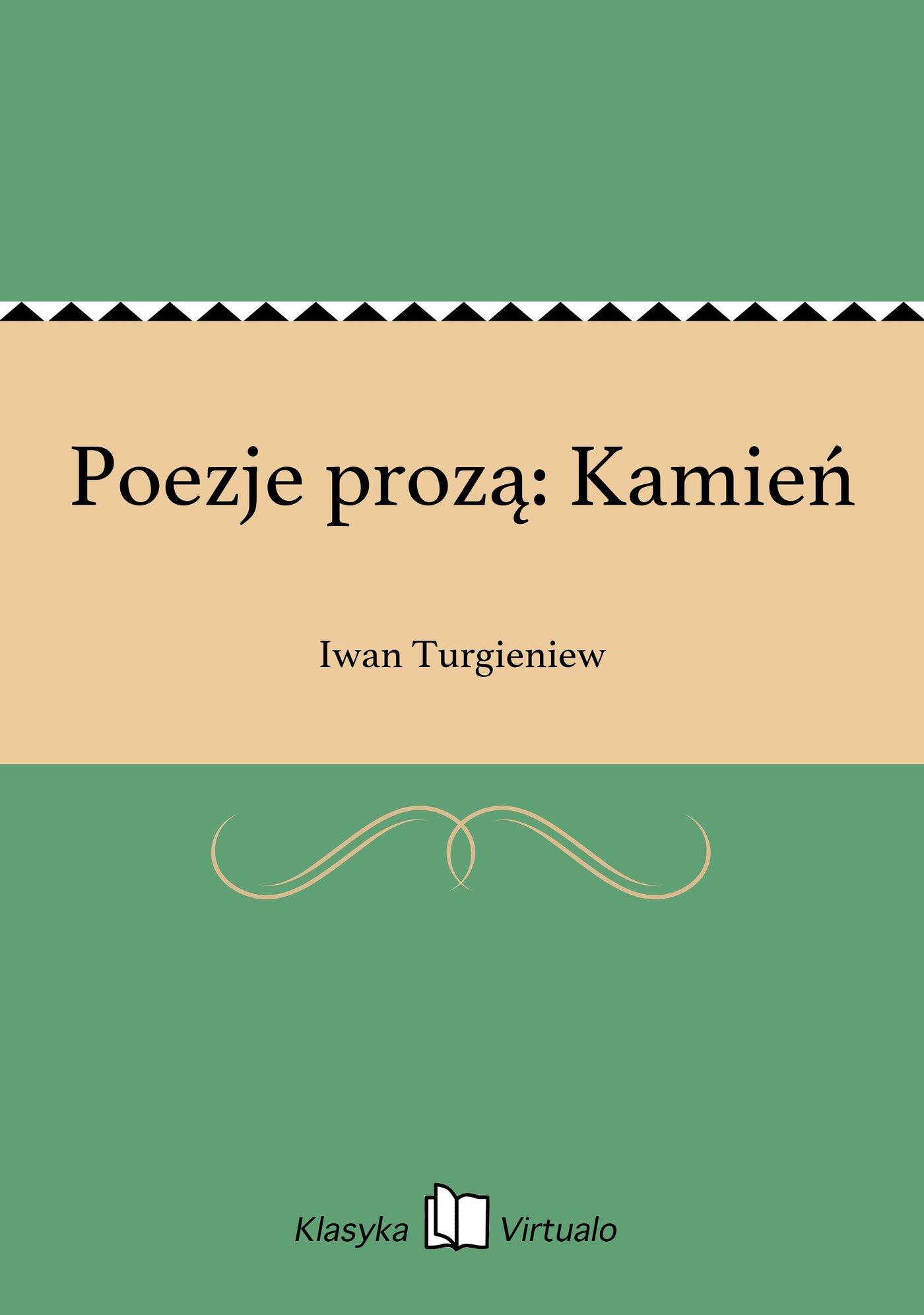 Poezje prozą: Kamień - Ebook (Książka EPUB) do pobrania w formacie EPUB