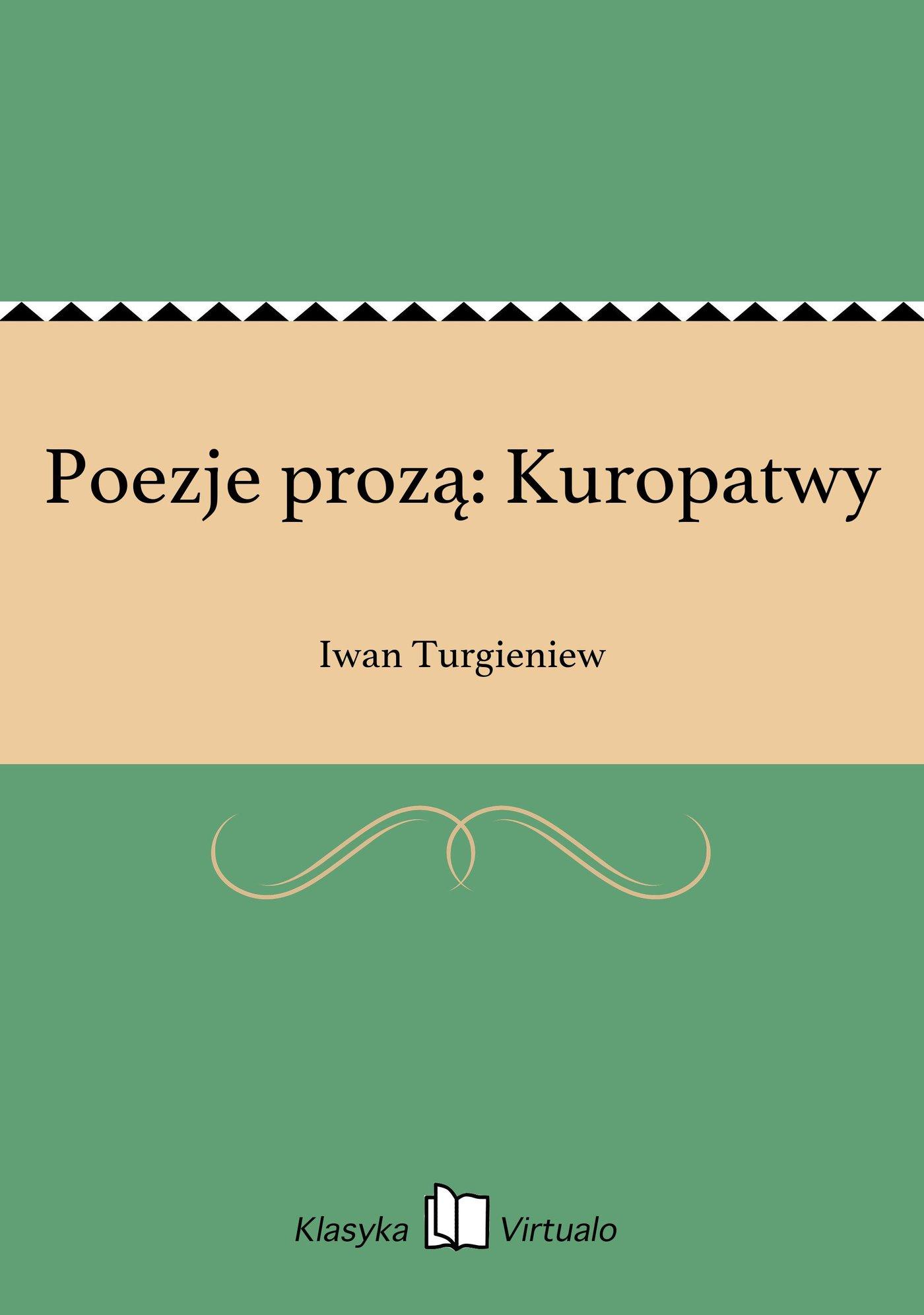Poezje prozą: Kuropatwy - Ebook (Książka EPUB) do pobrania w formacie EPUB