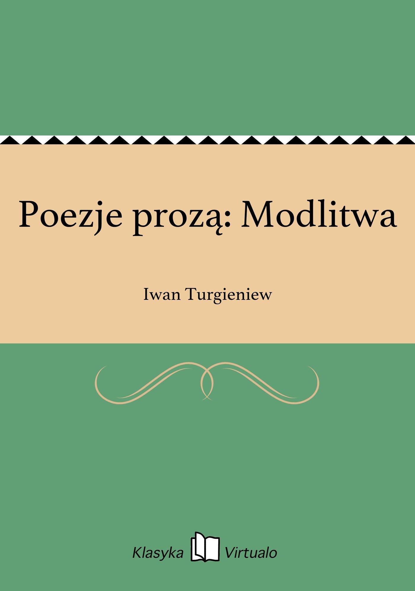 Poezje prozą: Modlitwa - Ebook (Książka EPUB) do pobrania w formacie EPUB