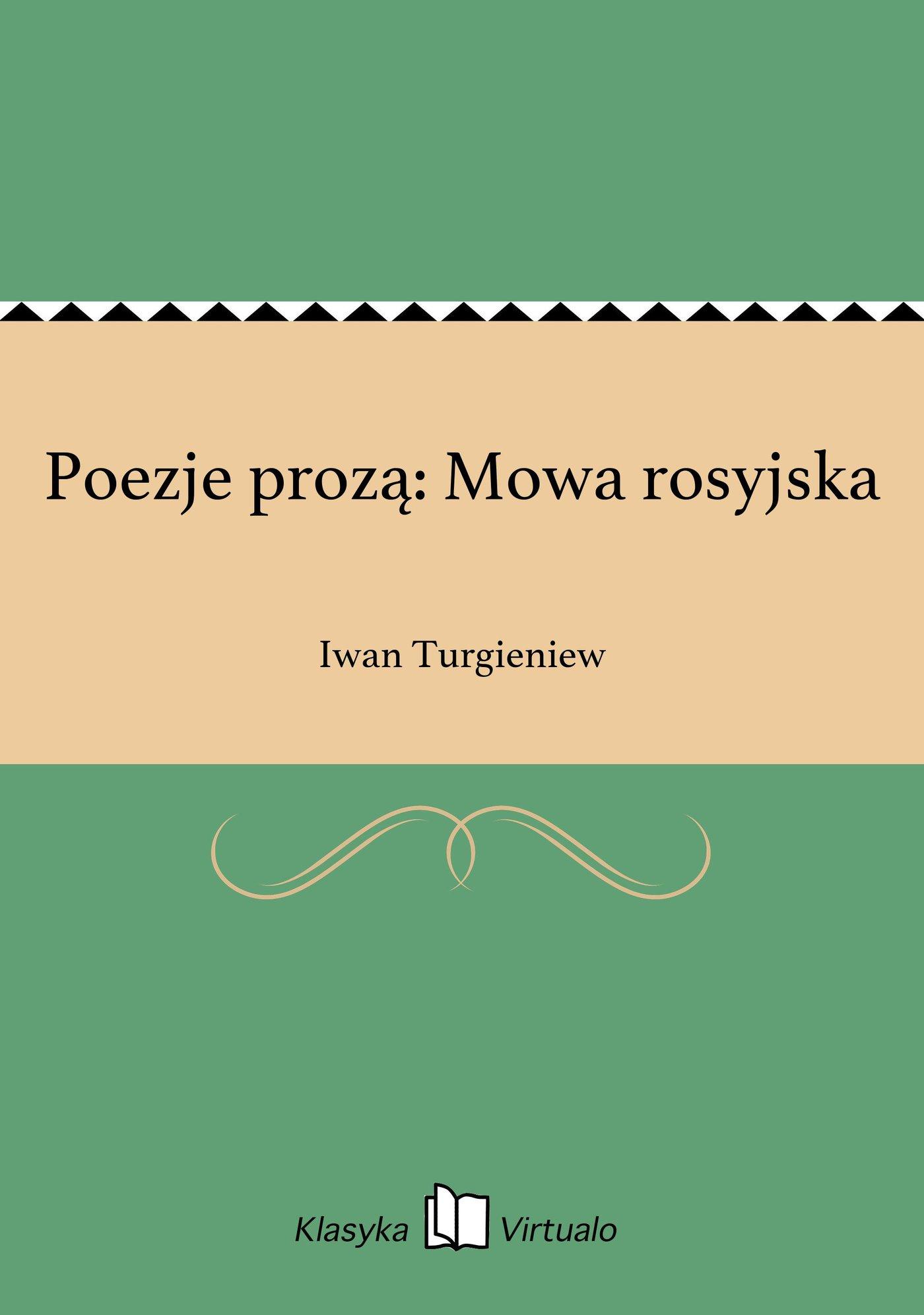 Poezje prozą: Mowa rosyjska - Ebook (Książka EPUB) do pobrania w formacie EPUB