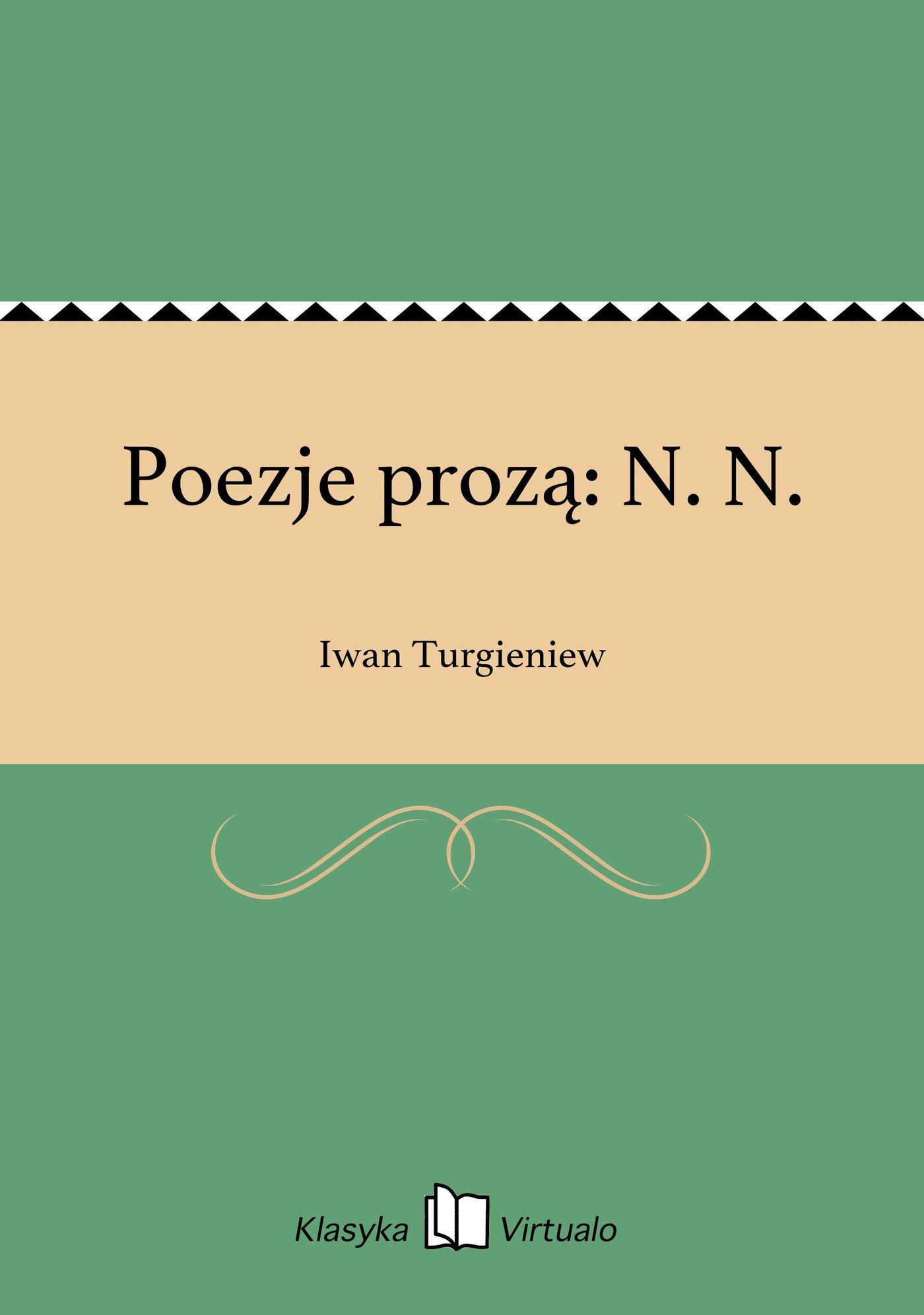 Poezje prozą: N. N. - Ebook (Książka EPUB) do pobrania w formacie EPUB