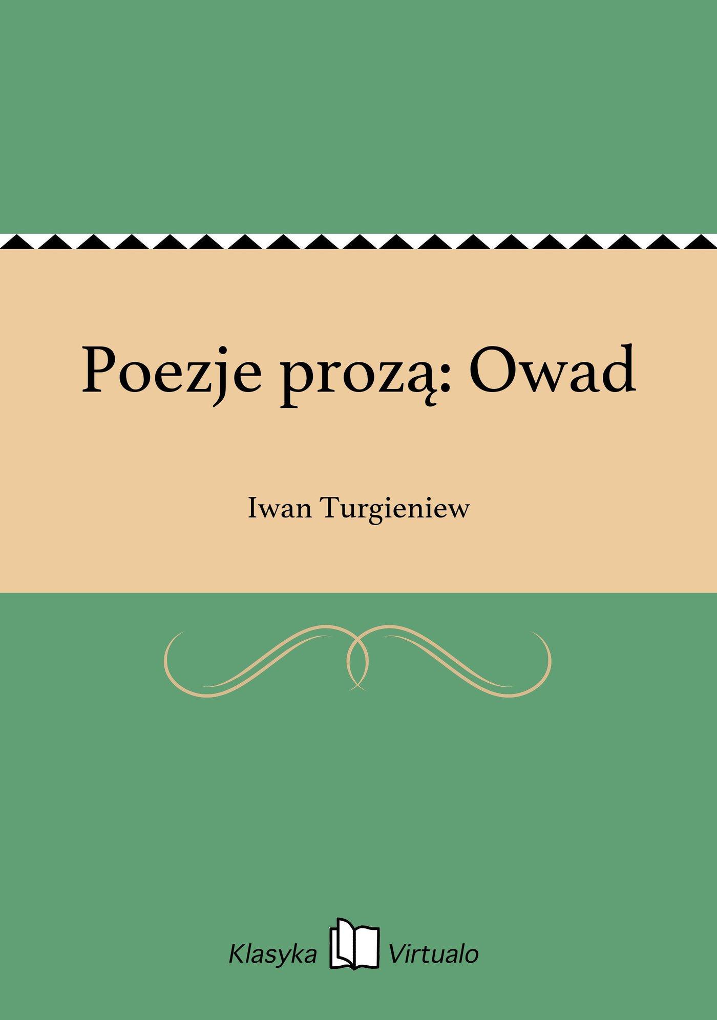 Poezje prozą: Owad - Ebook (Książka EPUB) do pobrania w formacie EPUB