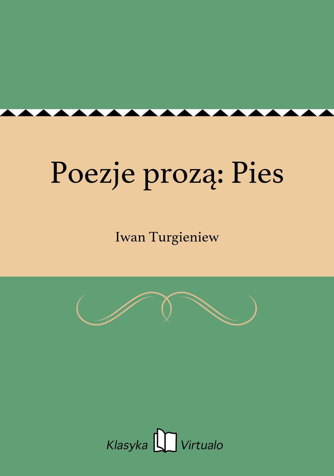 Poezje prozą: Pies - Ebook (Książka EPUB) do pobrania w formacie EPUB