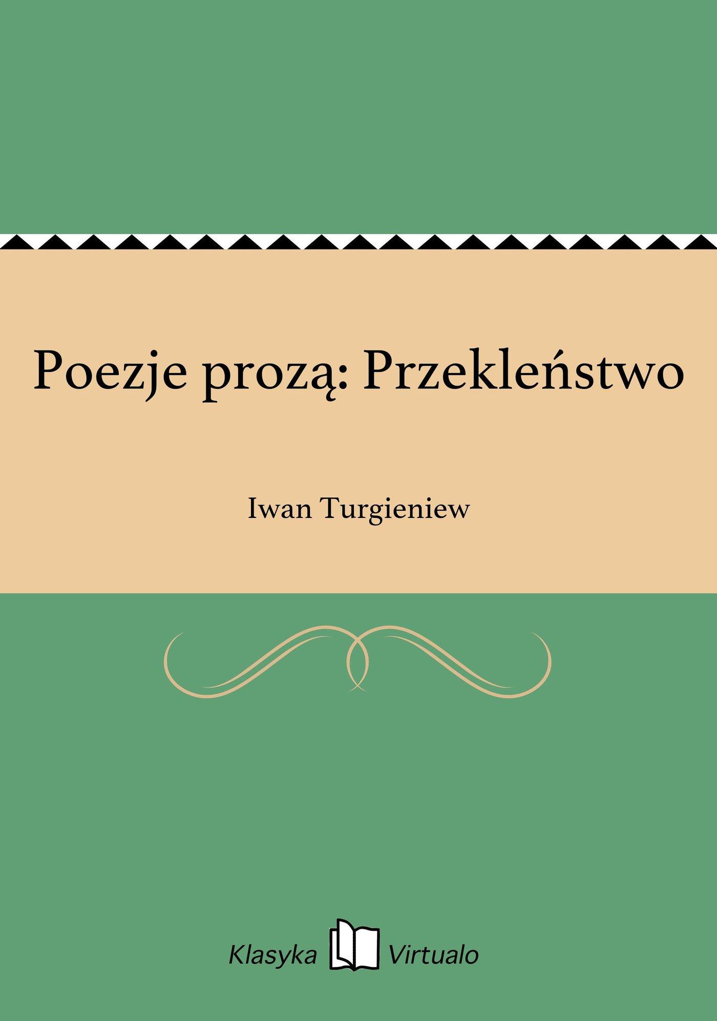 Poezje prozą: Przekleństwo - Ebook (Książka EPUB) do pobrania w formacie EPUB