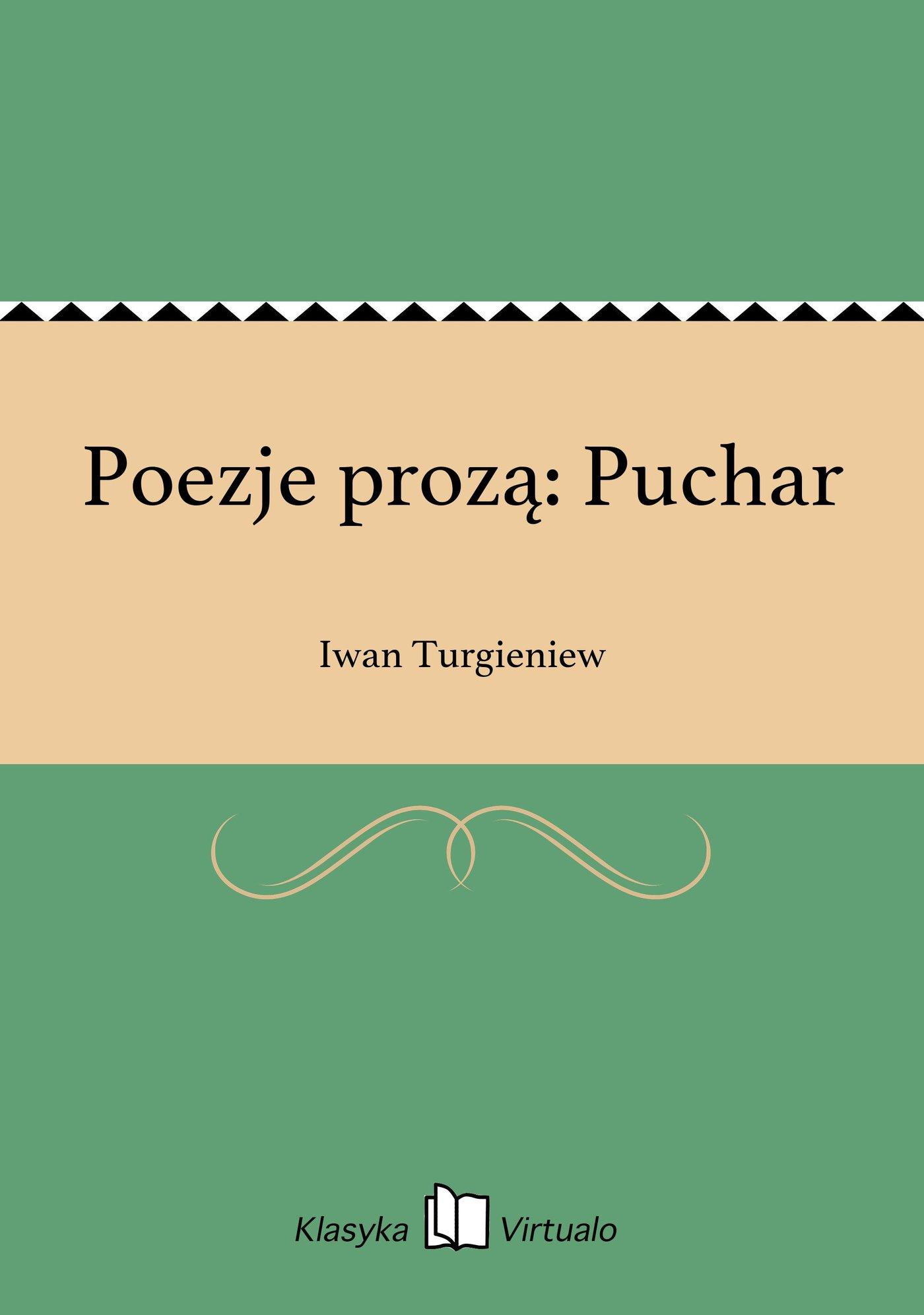 Poezje prozą: Puchar - Ebook (Książka EPUB) do pobrania w formacie EPUB
