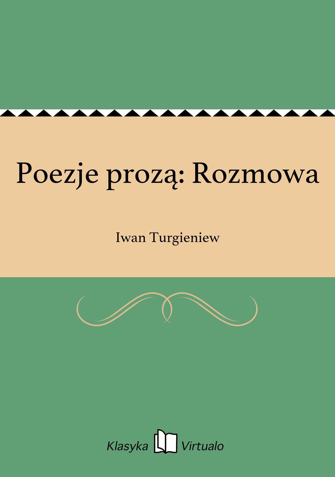 Poezje prozą: Rozmowa - Ebook (Książka EPUB) do pobrania w formacie EPUB