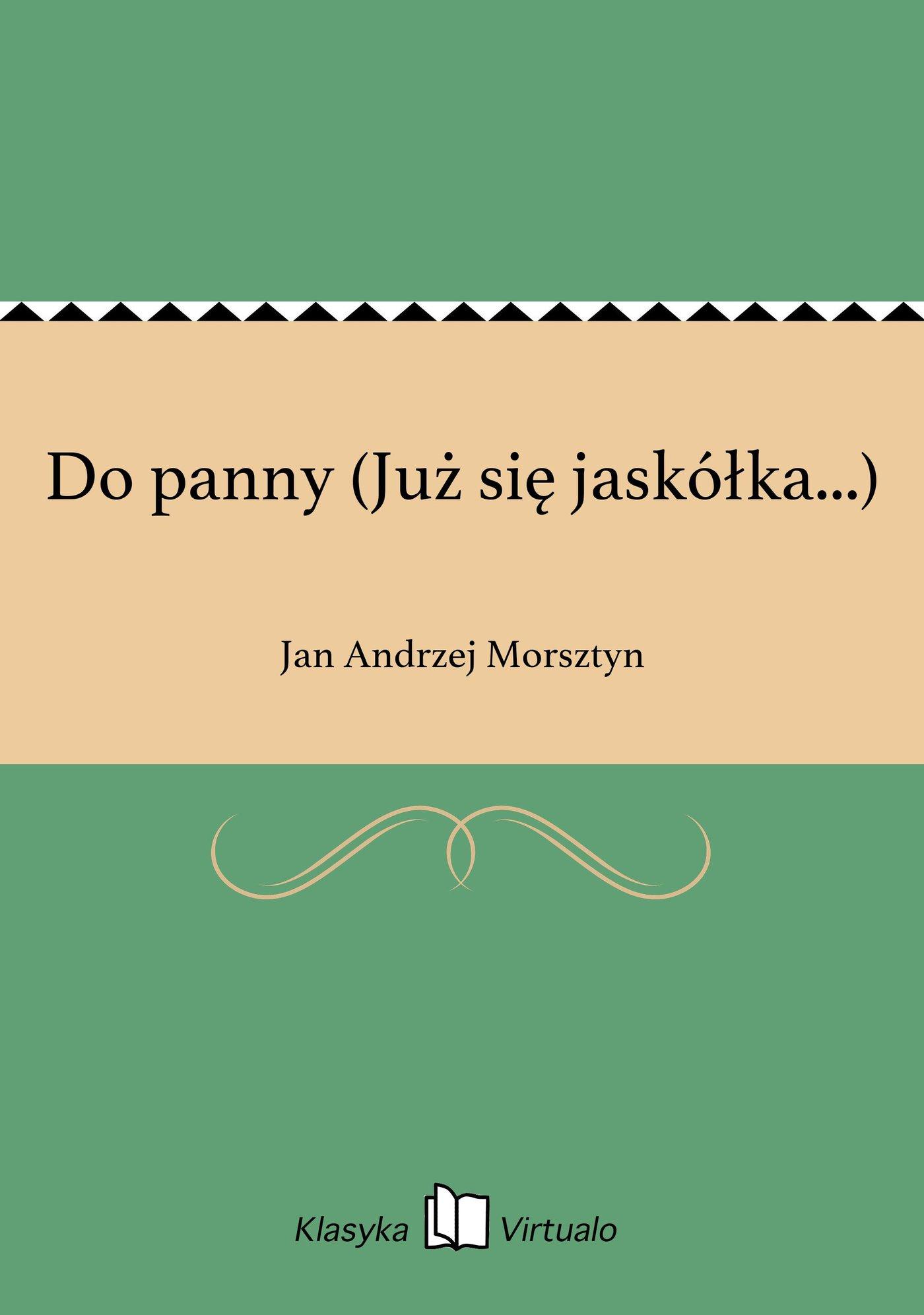Do panny (Już się jaskółka...) - Ebook (Książka EPUB) do pobrania w formacie EPUB